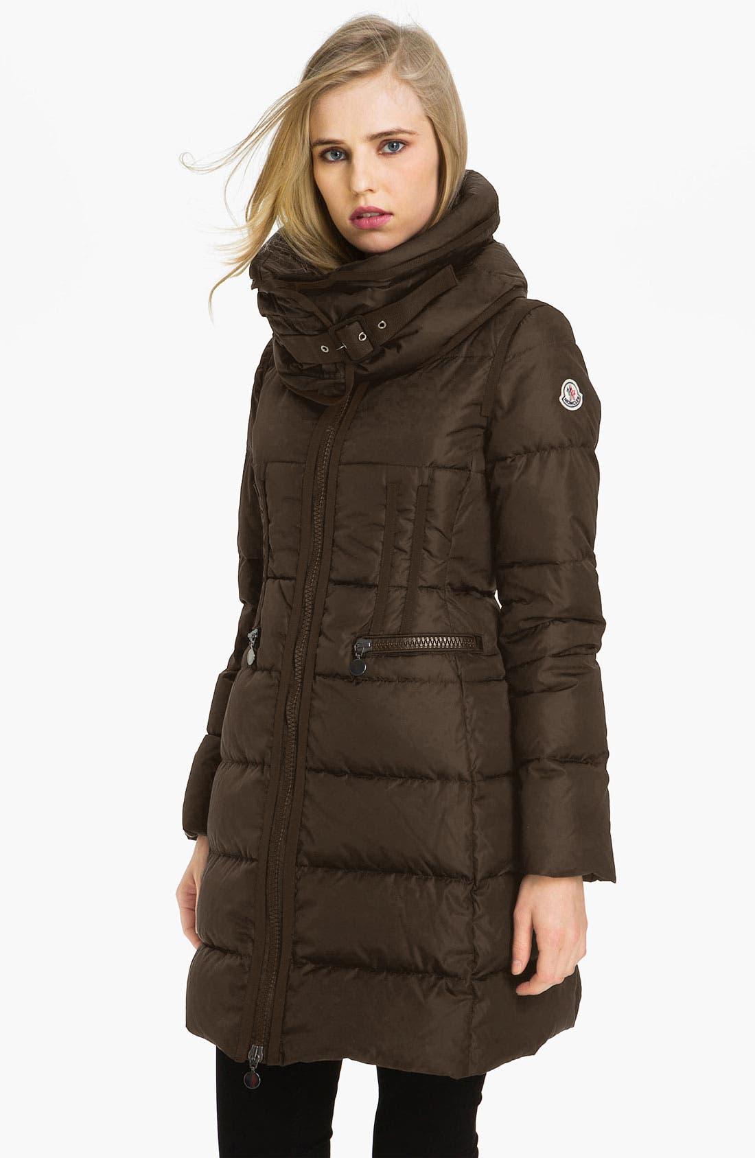 Alternate Image 1 Selected - Moncler 'Chou' Zip Pocket Down Coat