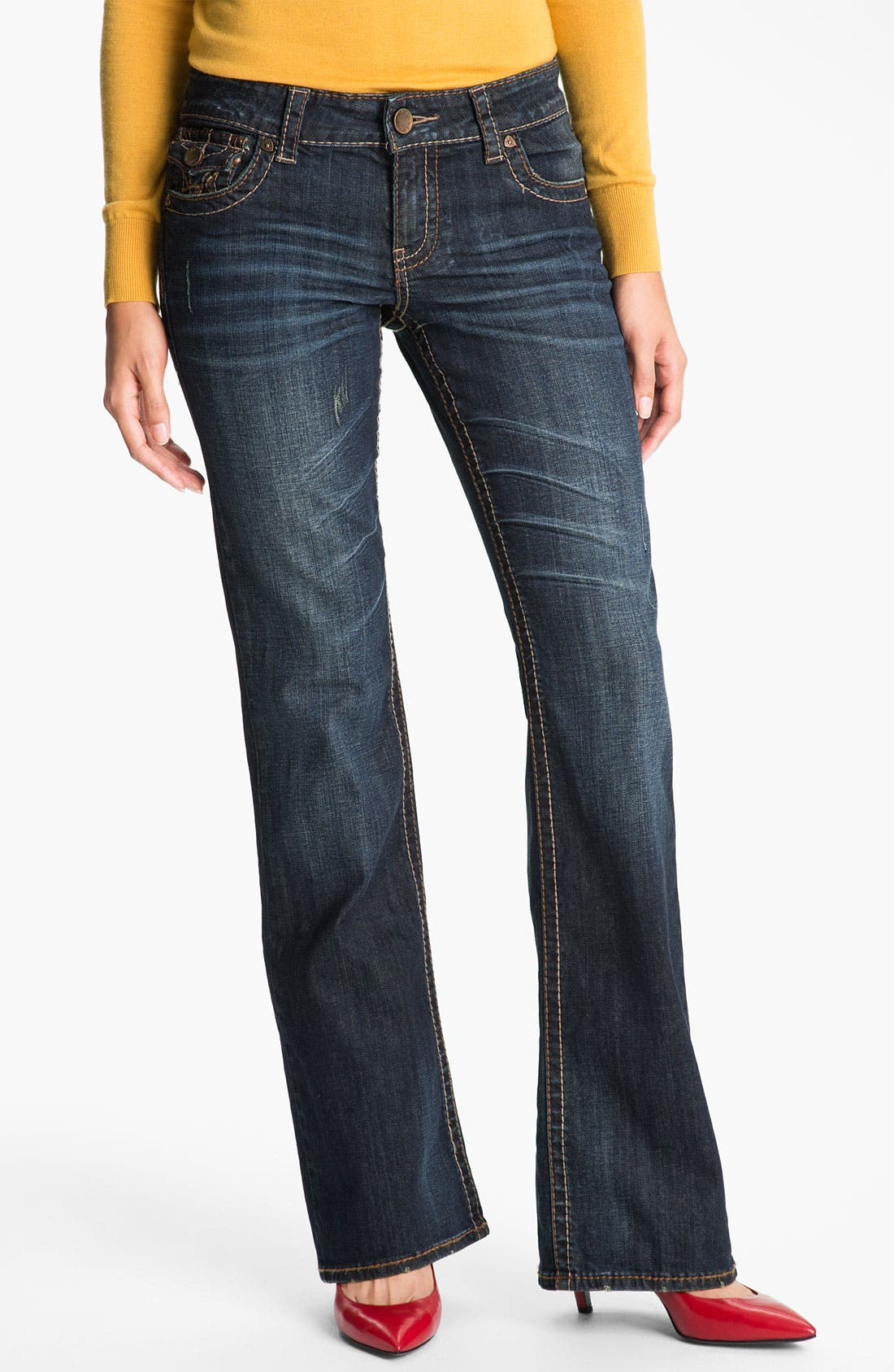 Alternate Image 1 Selected - KUT from the Kloth 'Kate' Bootcut Jeans (Proud) (Online Only)