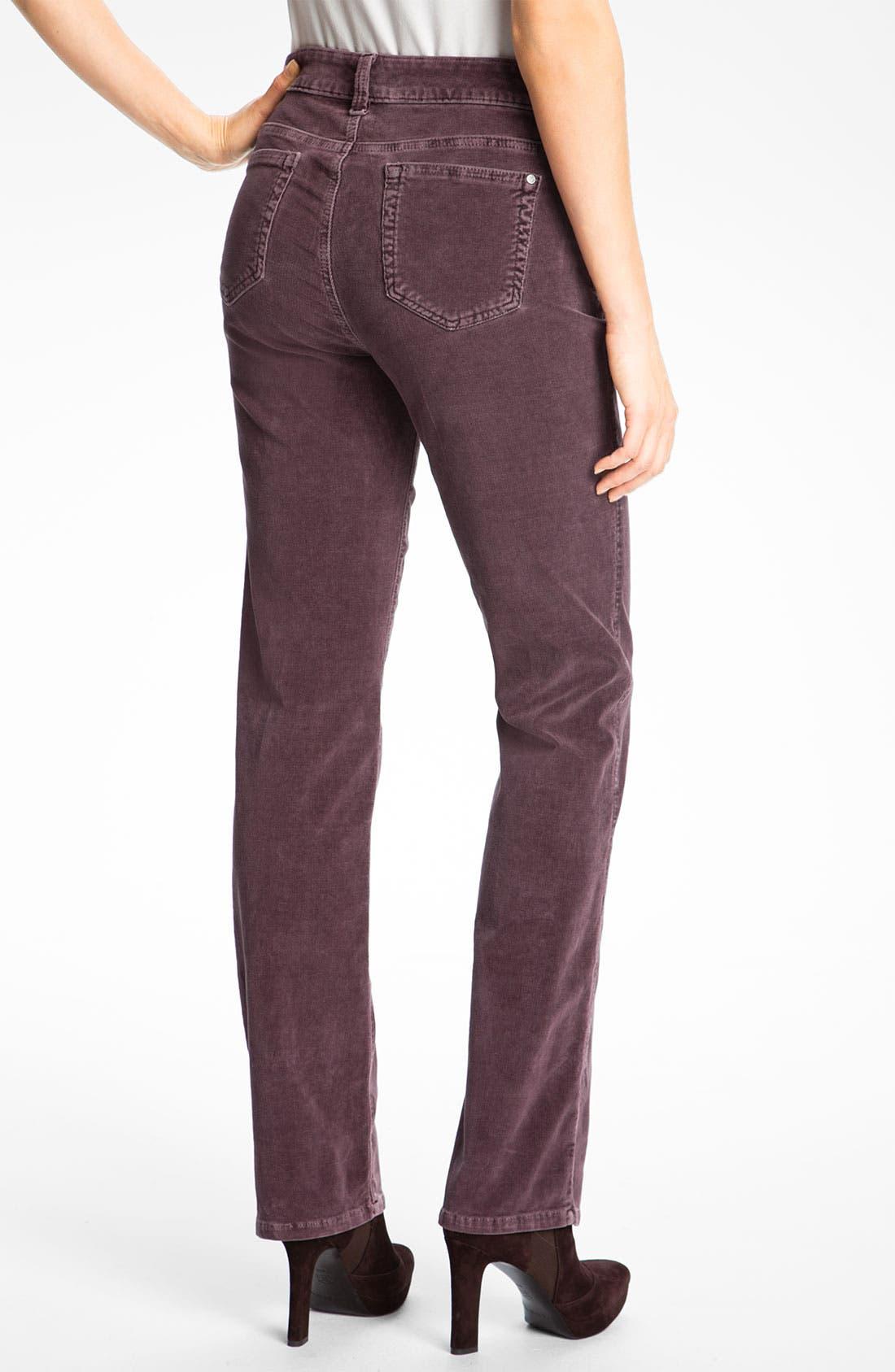 Alternate Image 2  - Miraclebody 'Katie' Straight Leg Stretch Corduroy Jeans