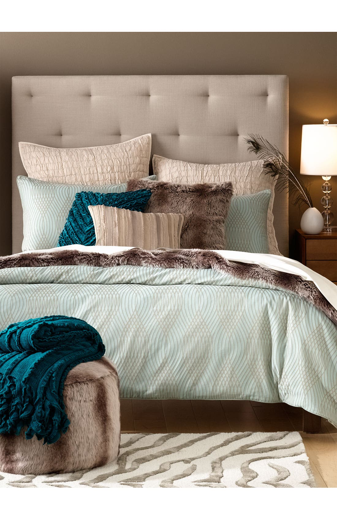 Alternate Image 2  - Nordstrom at Home 'Nouveau Wave' 300 Thread Count Duvet Cover