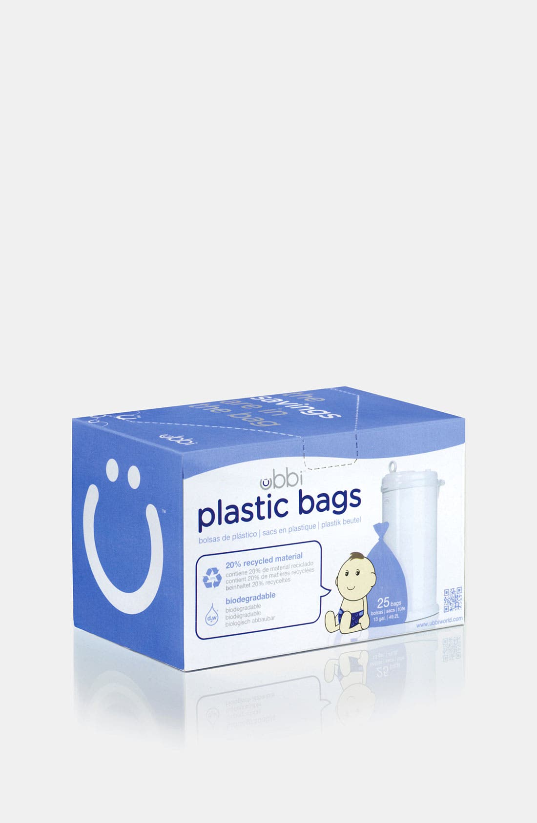 Alternate Image 1 Selected - Ubbi Biodegradable Diaper Pail Bags (Box of 25)