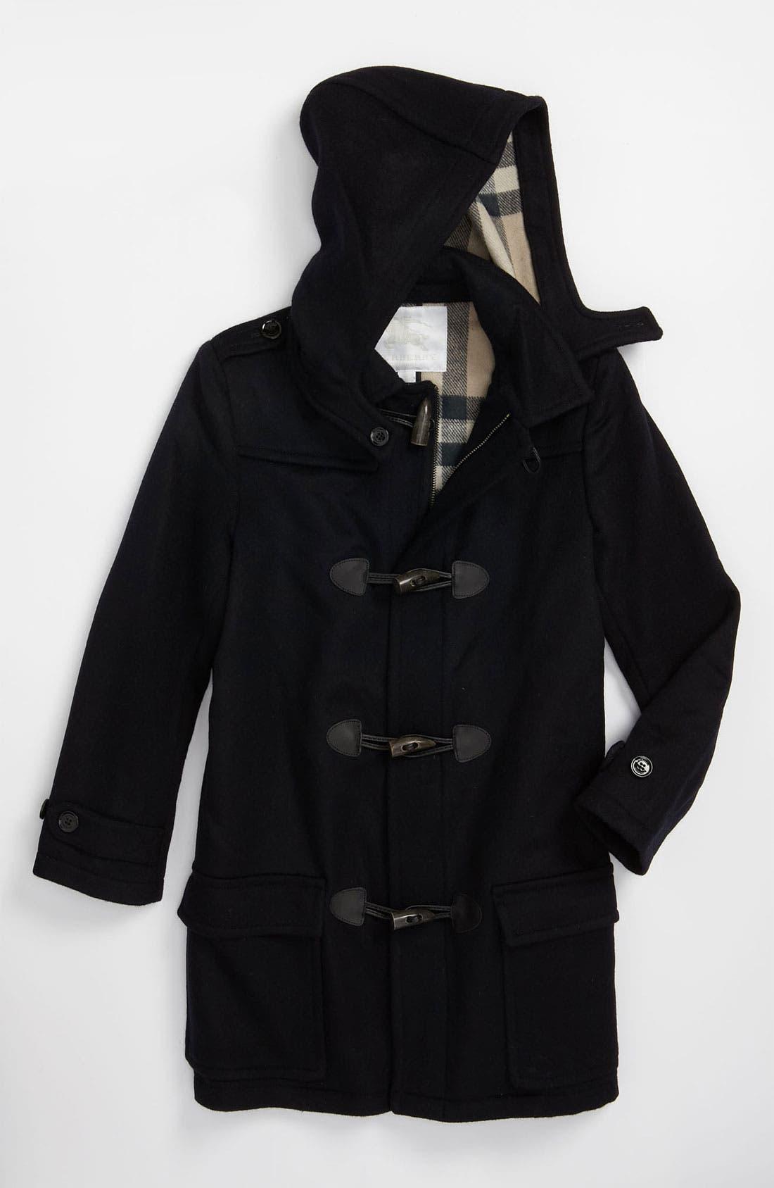 Main Image - Burberry Wool Duffle Coat (Little Boys)