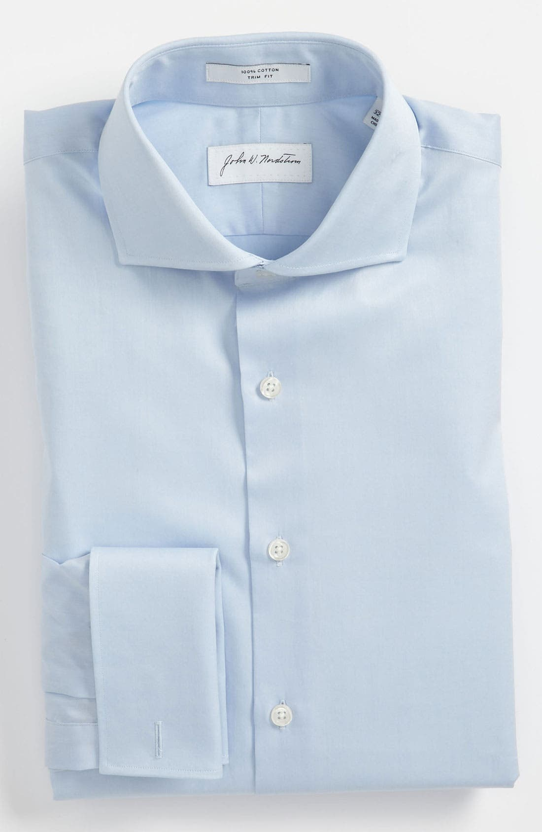 Main Image - John W. Nordstrom® Trim Fit French Cuff Dress Shirt (Online Only)
