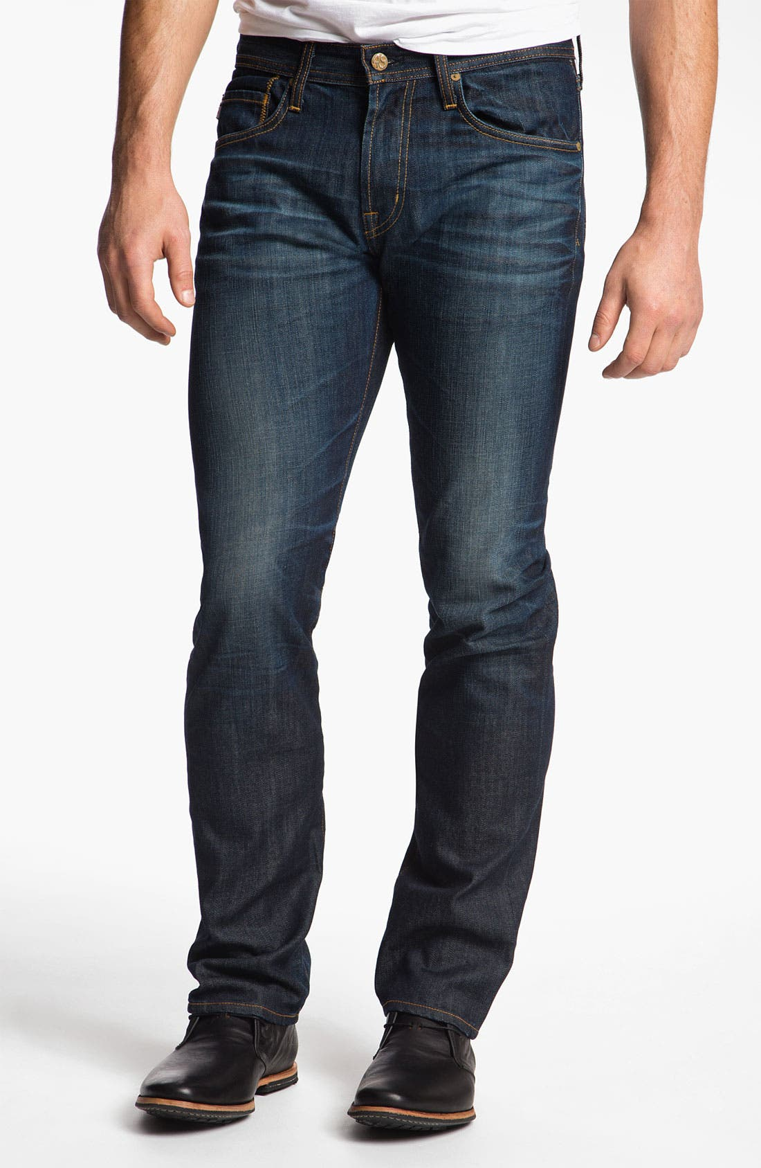 Alternate Image 1 Selected - AG Jeans 'Matchbox' Slim Straight Leg Jeans (5 Year Resin)