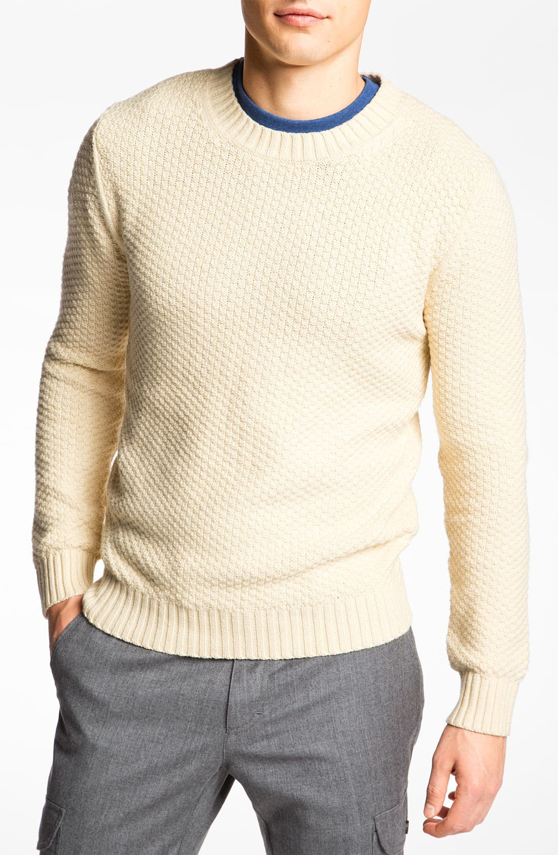 'Pineapple Knit' Sweater,                         Main,                         color, Cream