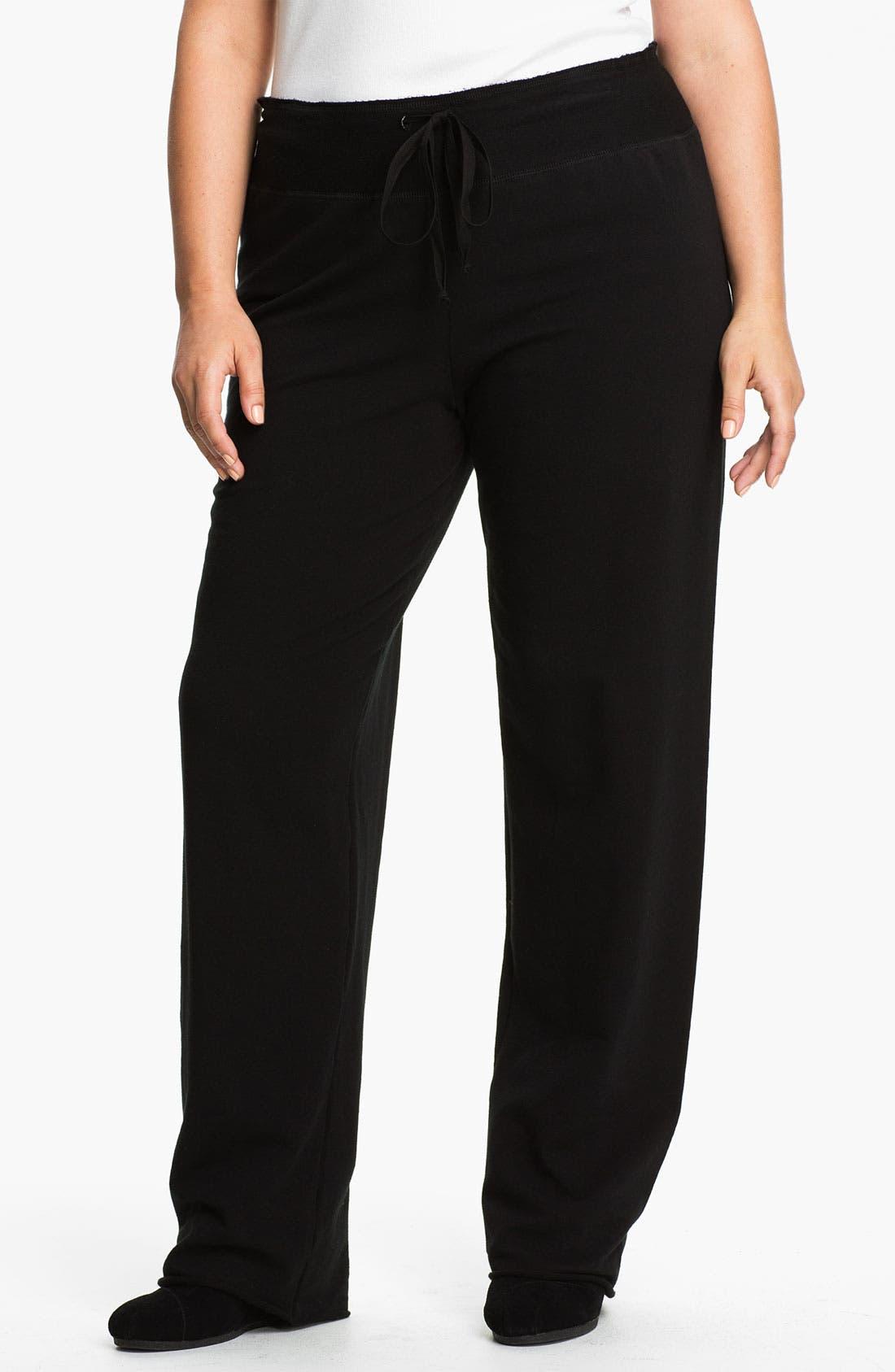 Main Image - Pink Lotus Drawstring Pants (Plus Size)