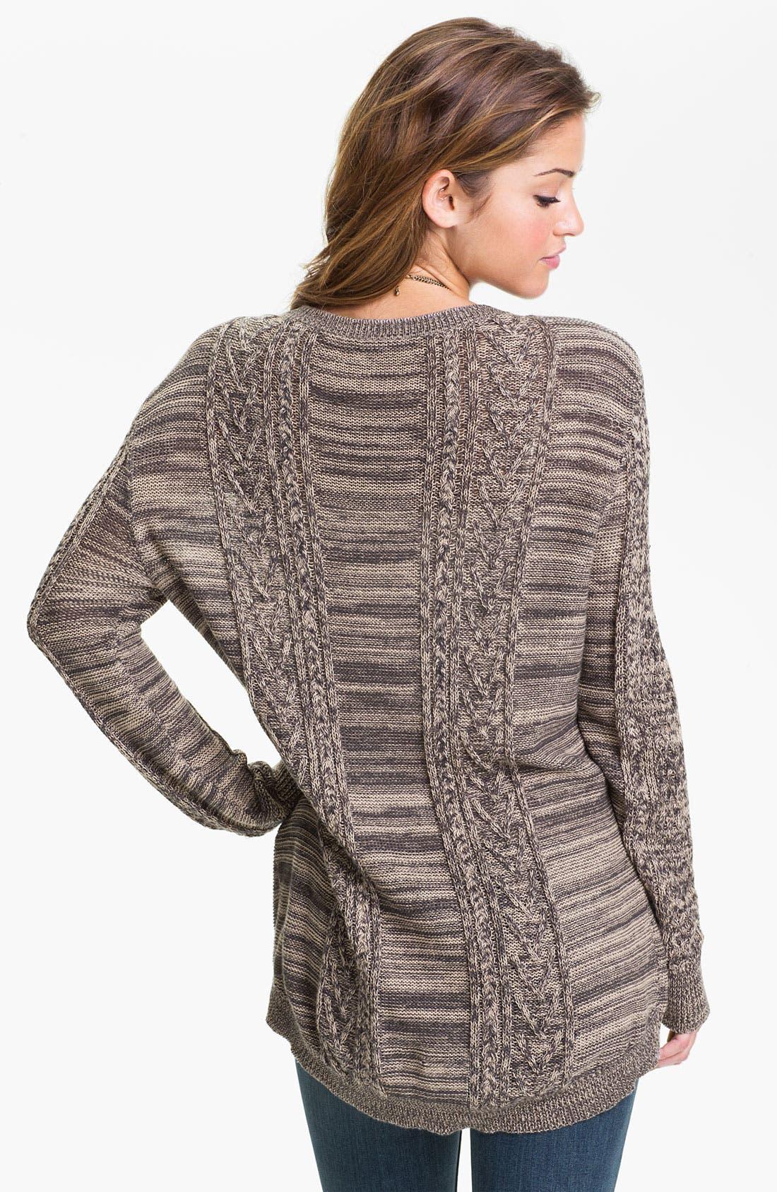 Alternate Image 2  - Rubbish® Cable Sweater (Juniors)