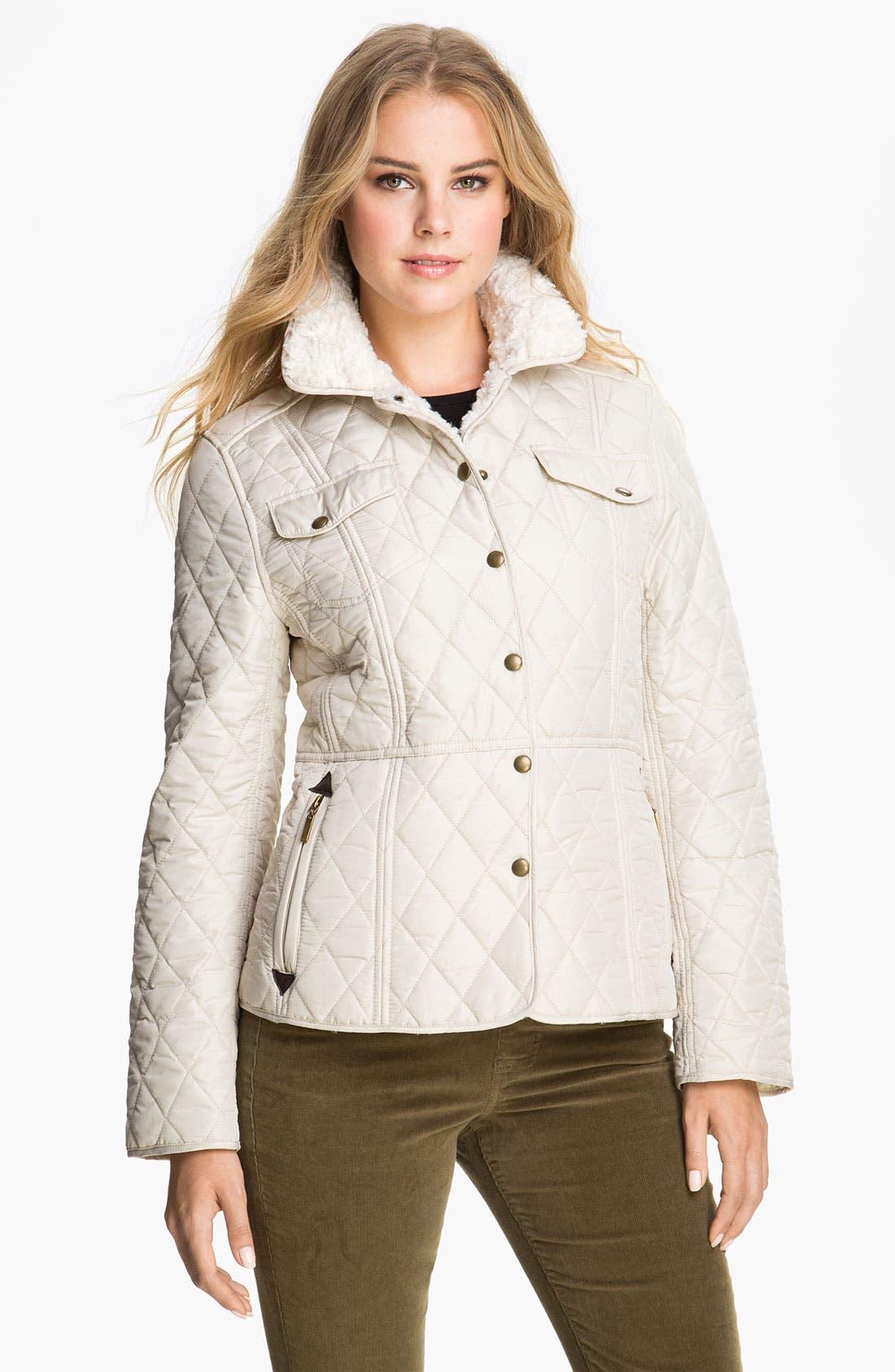 Alternate Image 1 Selected - Weatherproof® Faux Fur Lined Barn Jacket (Online Exclusive)