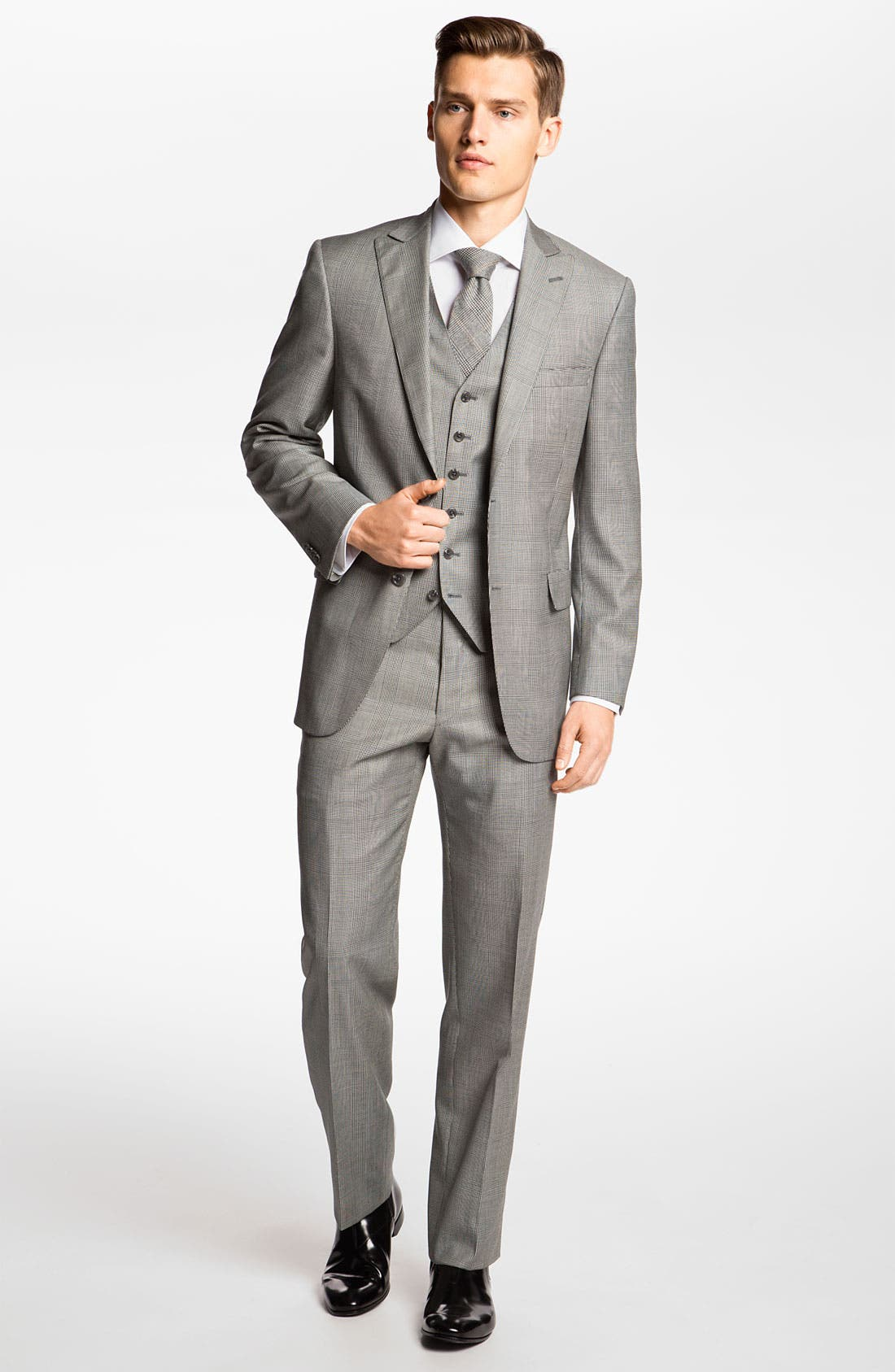 Alternate Image 2  - Hart Schaffner Marx Three Piece Plaid Suit