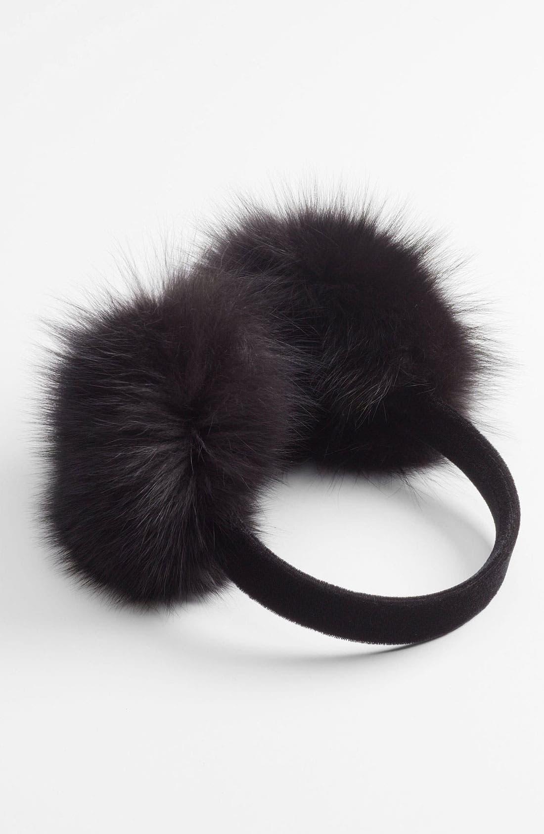 Alternate Image 1 Selected - Dena Products Genuine Fox Fur Earmuffs