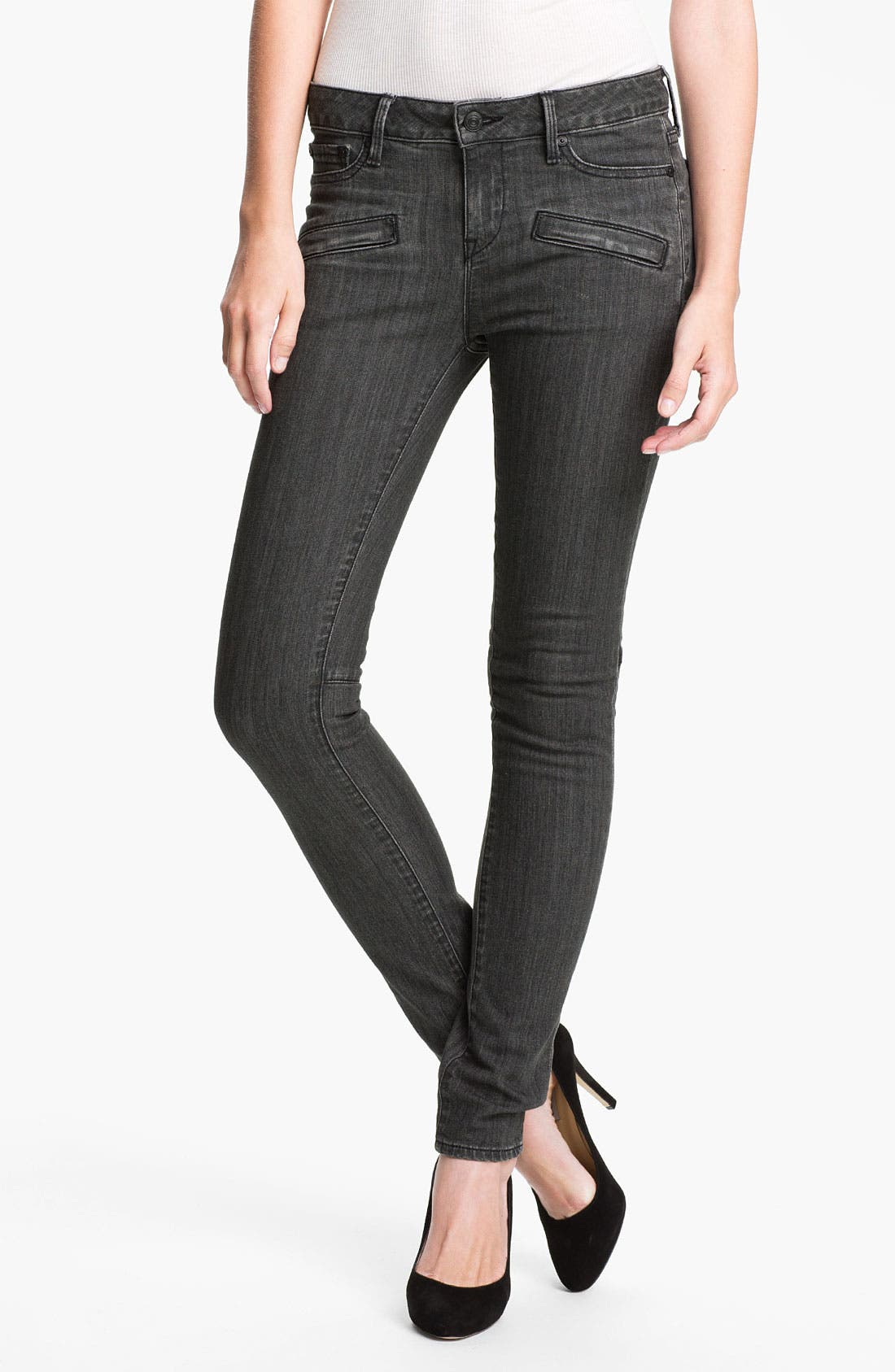Stretch Skinny Jeans,                         Main,                         color, Mid Grey