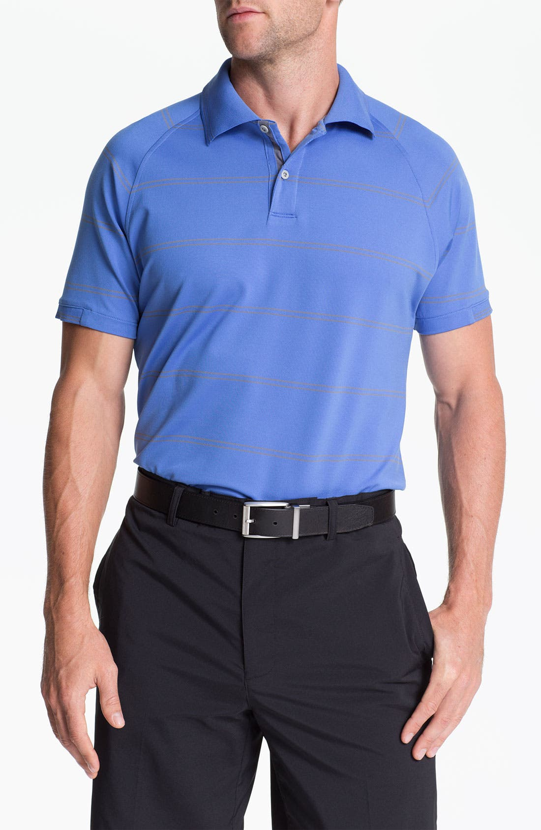 Main Image - Zero Restriction 'Pencil Stripe' Polo (Online Only)