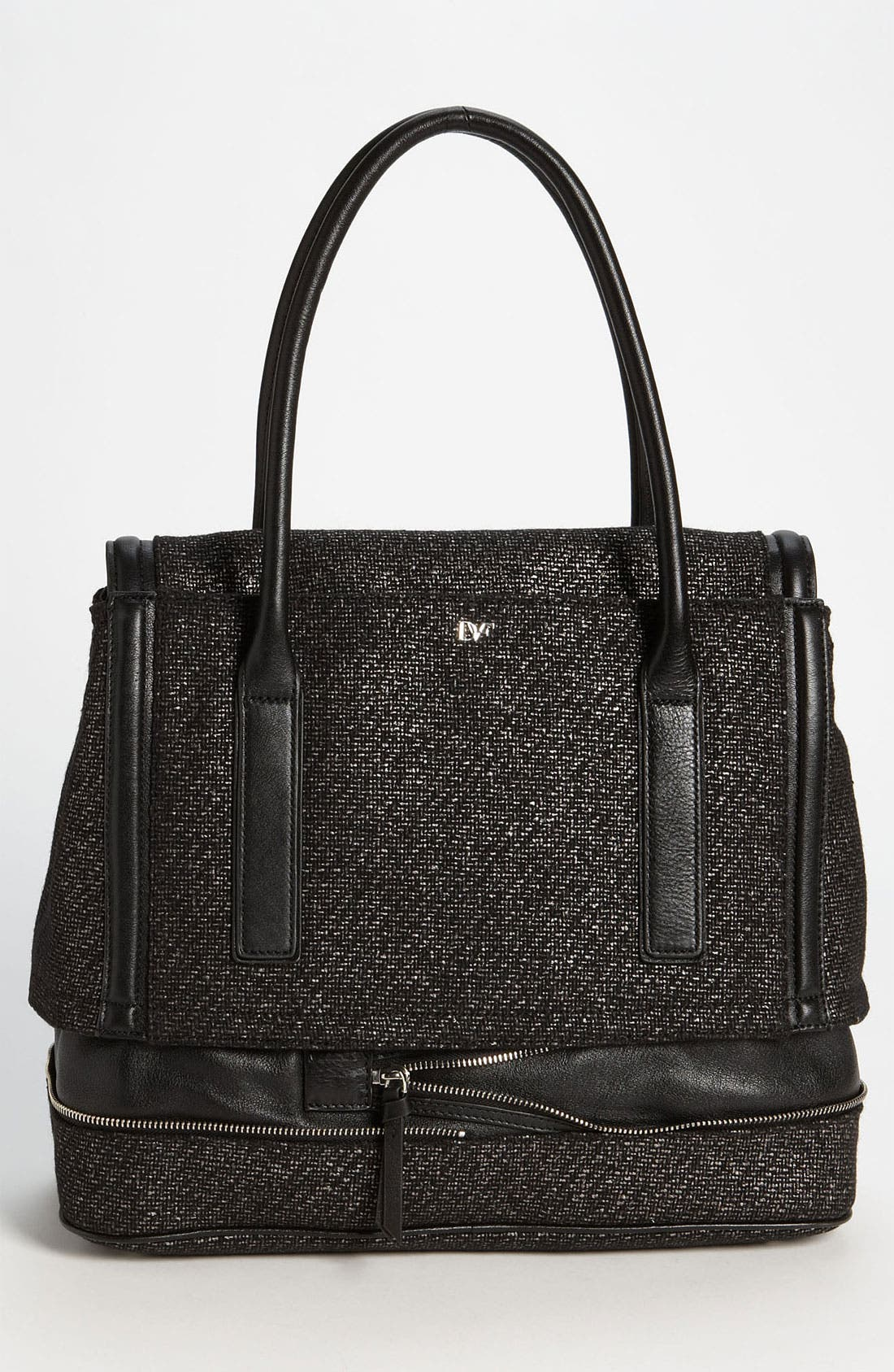Alternate Image 4  - Diane von Furstenberg 'New Harper - Laurel' Tweed Shoulder Bag