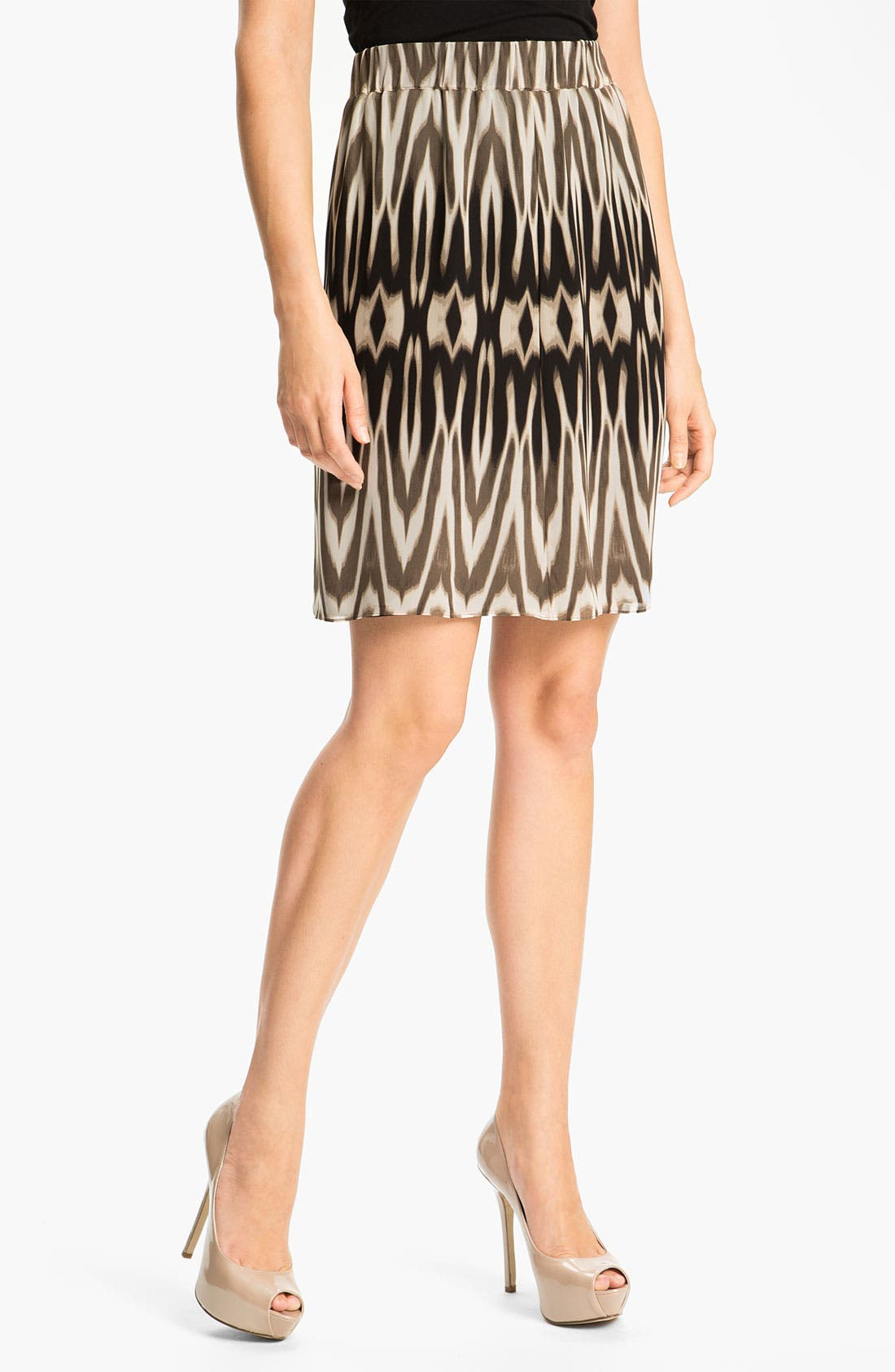 Alternate Image 1 Selected - Chaus Ombré Ikat Print Skirt