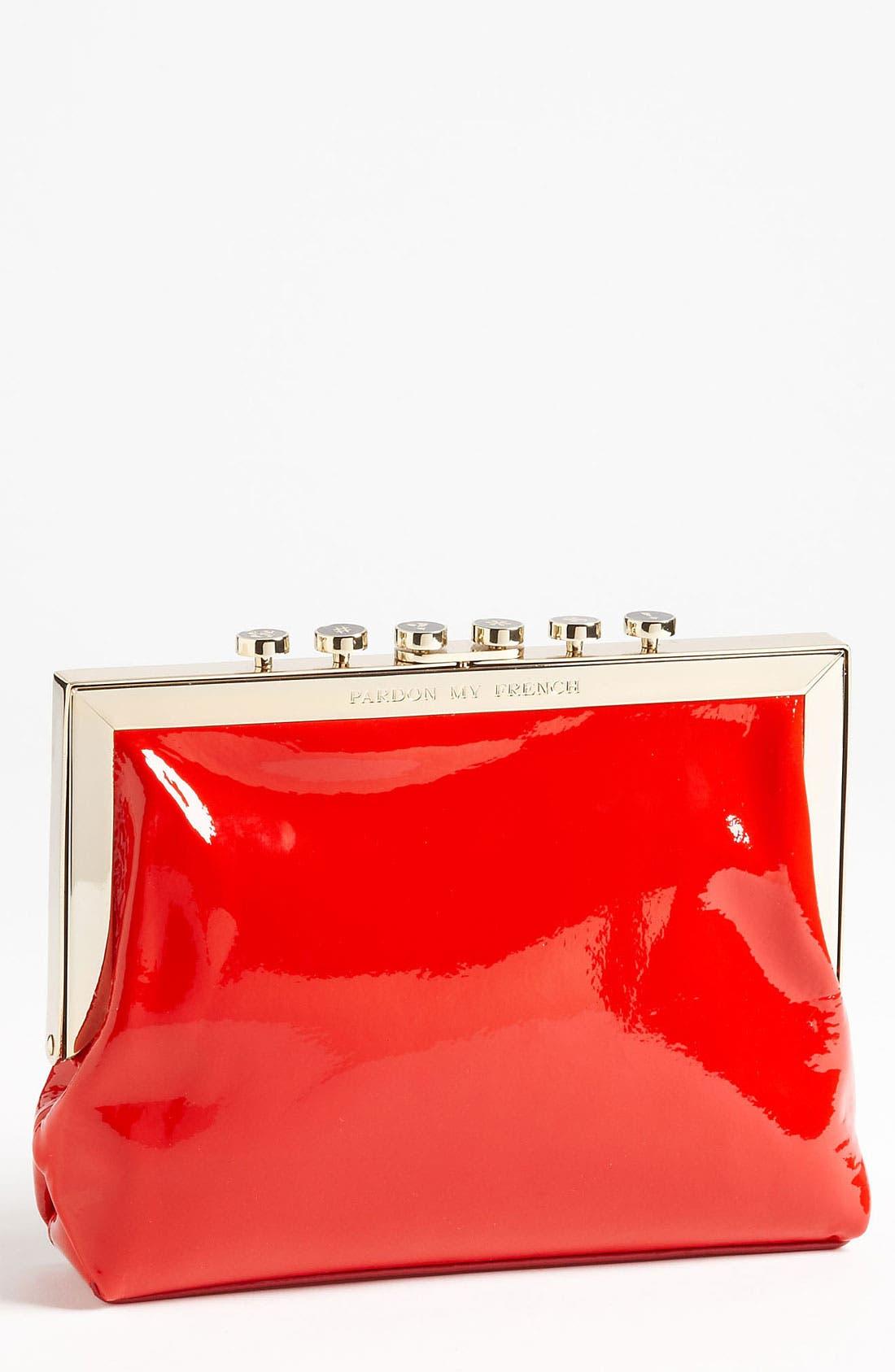 Main Image - kate spade new york 'pardon my french - typewriter keys' clutch