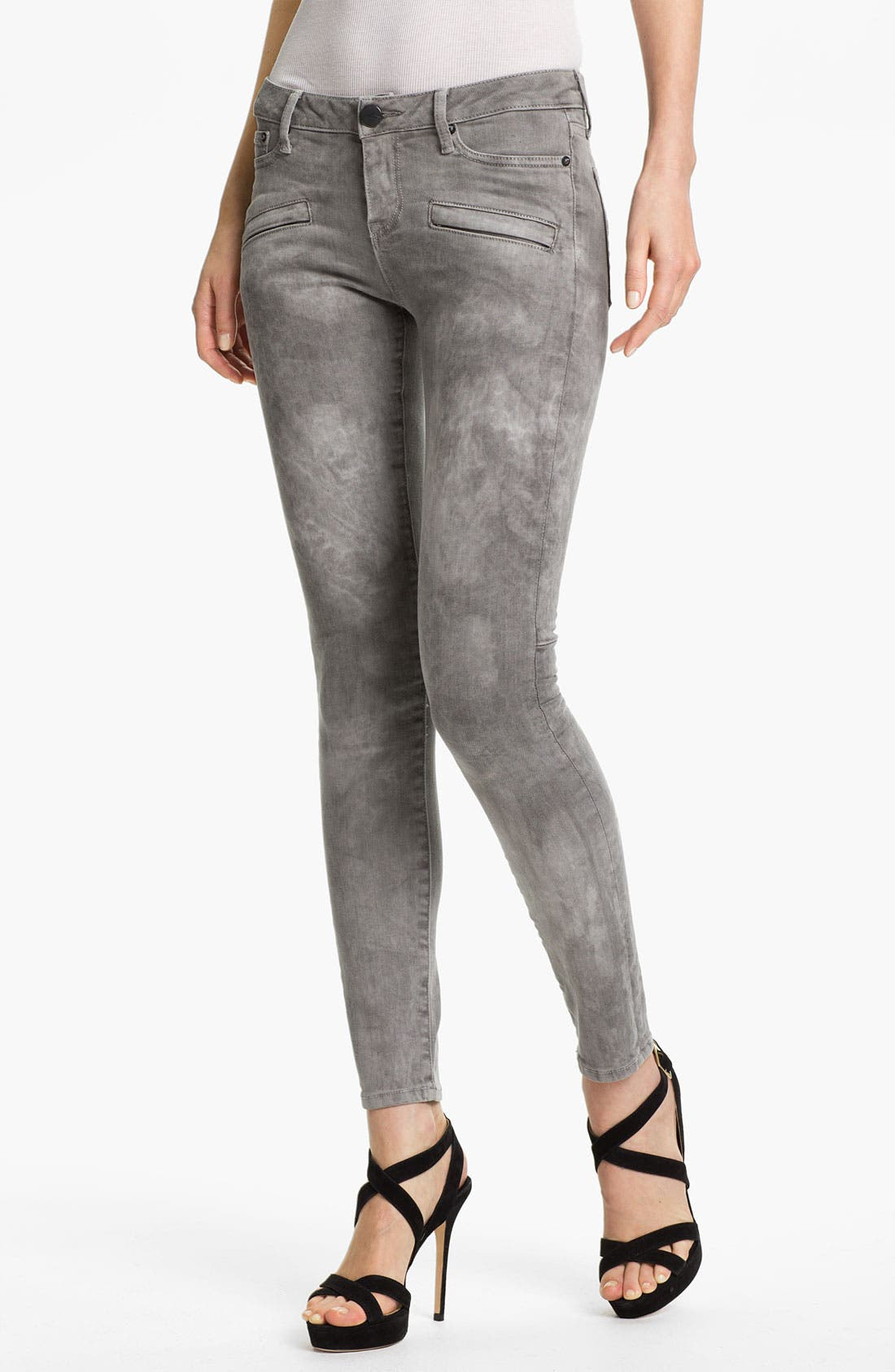 Alternate Image 1 Selected - Vince Skinny Stretch Jeans (Marble Laser)