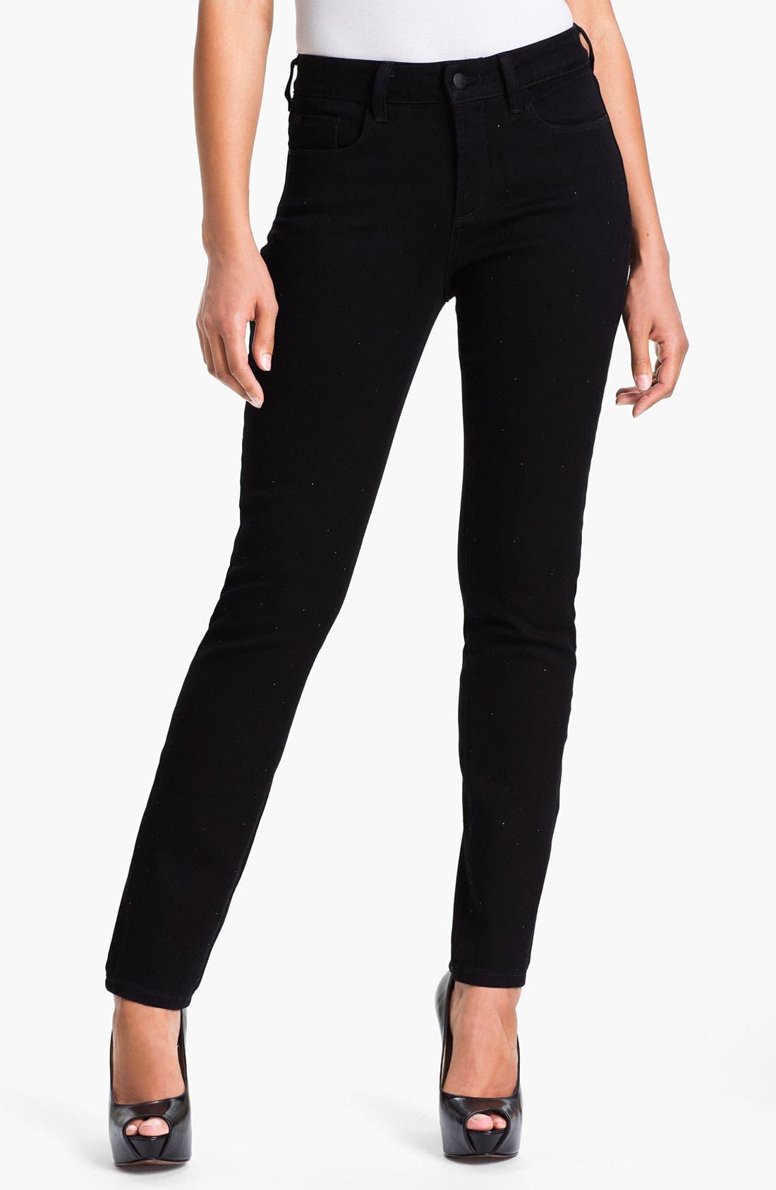 Alternate Image 1 Selected - NYDJ 'Sheri' Sparkle Skinny Stretch Jeans