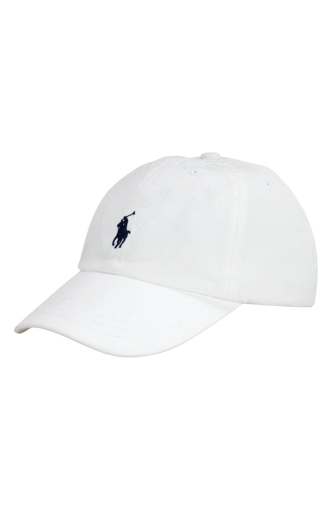 Alternate Image 1 Selected - Ralph Lauren Baseball Cap (Toddler)
