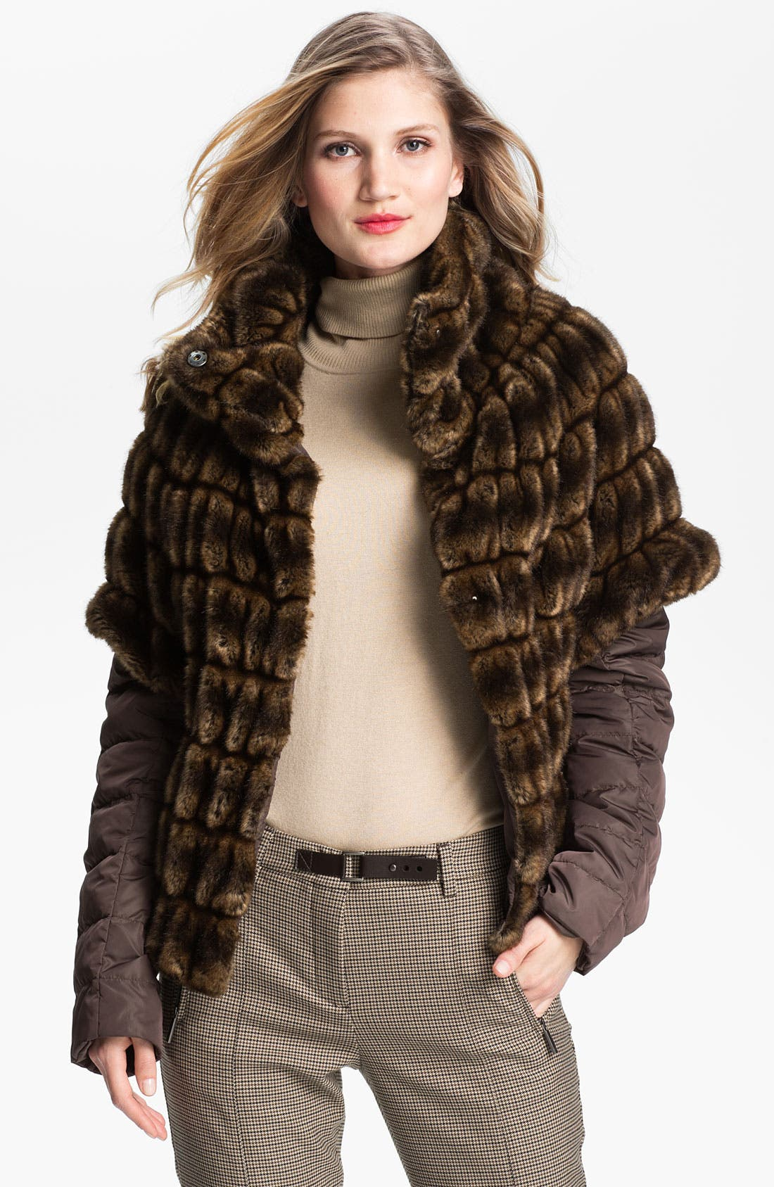 Alternate Image 1 Selected - Weekend Max Mara 'Taso' Faux Fur Jacket