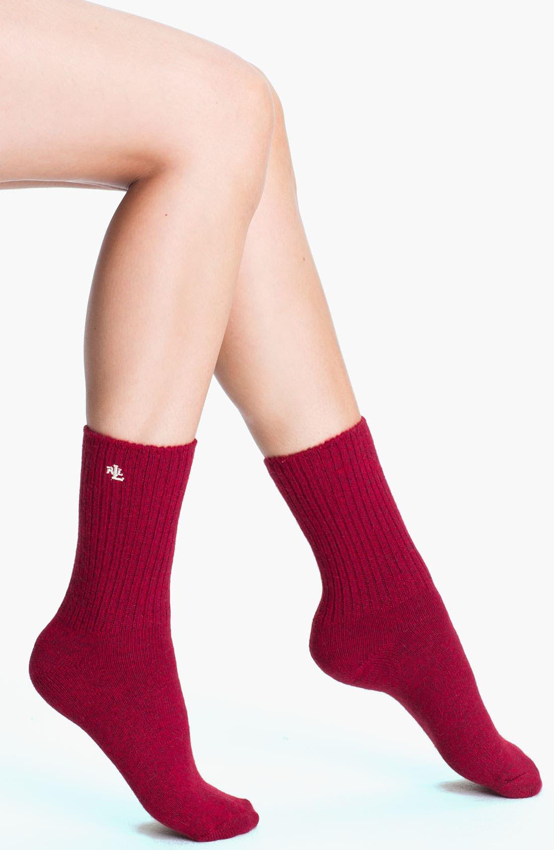 Alternate Image 1 Selected - Ralph Lauren Crew Socks
