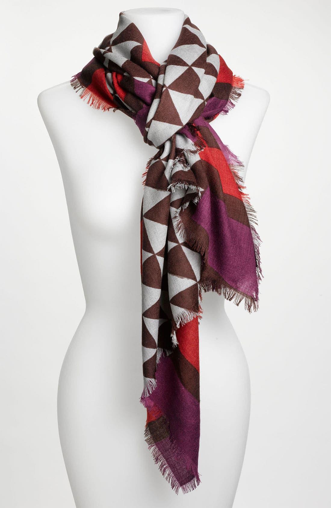 Main Image - Trouvé 'Checker Medallion' Wool Scarf