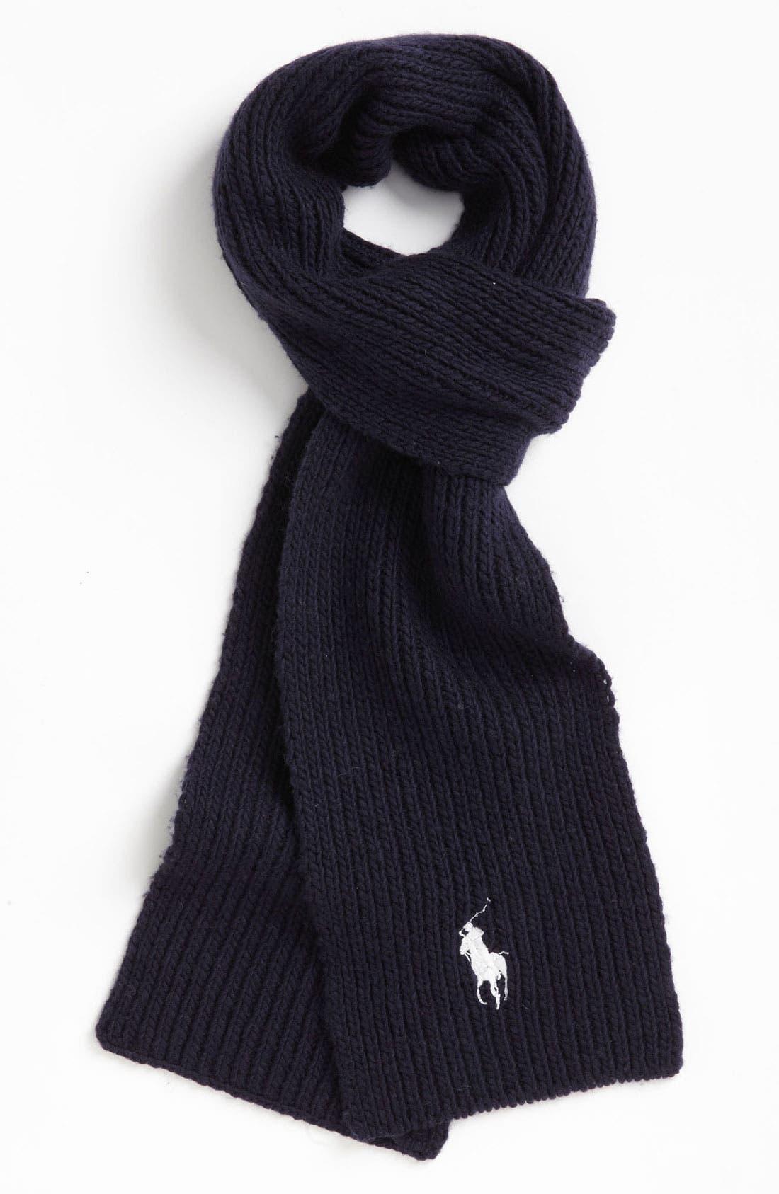 Main Image - Polo Ralph Lauren Wool & Cashmere Blend Scarf