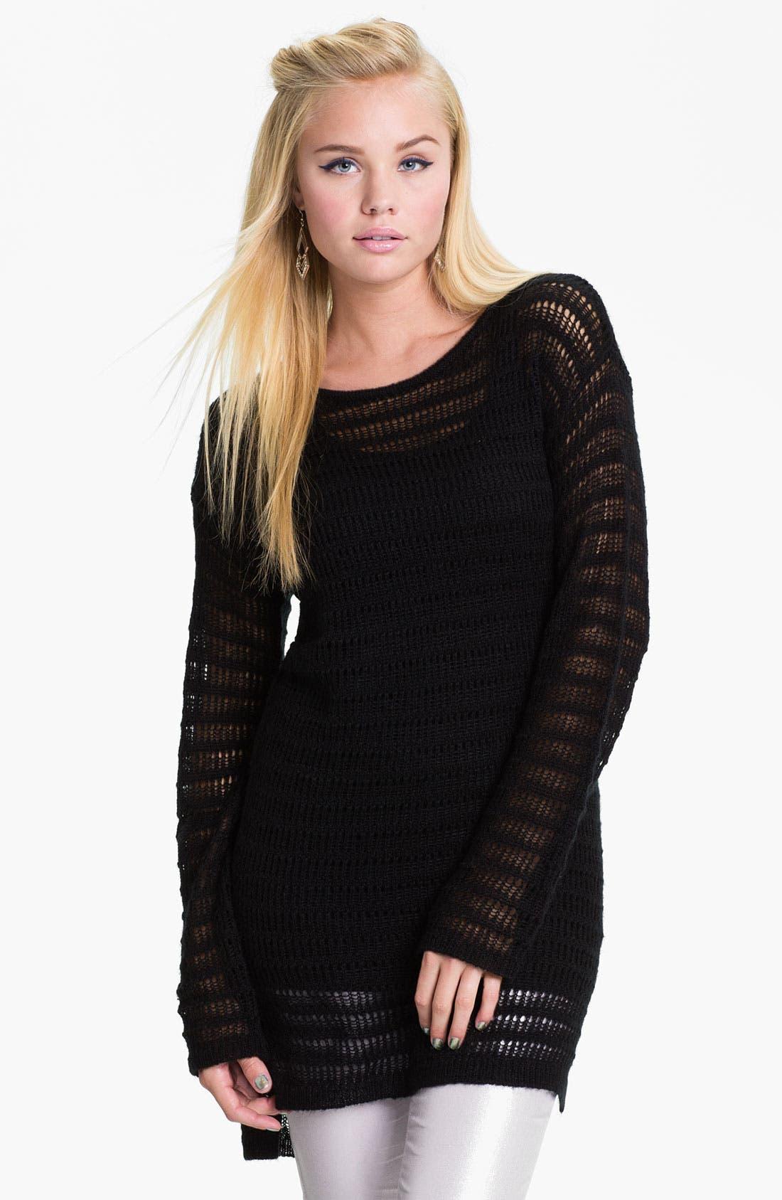Main Image - Frenchi® 'Drop Needle' Tunic Sweater (Juniors)