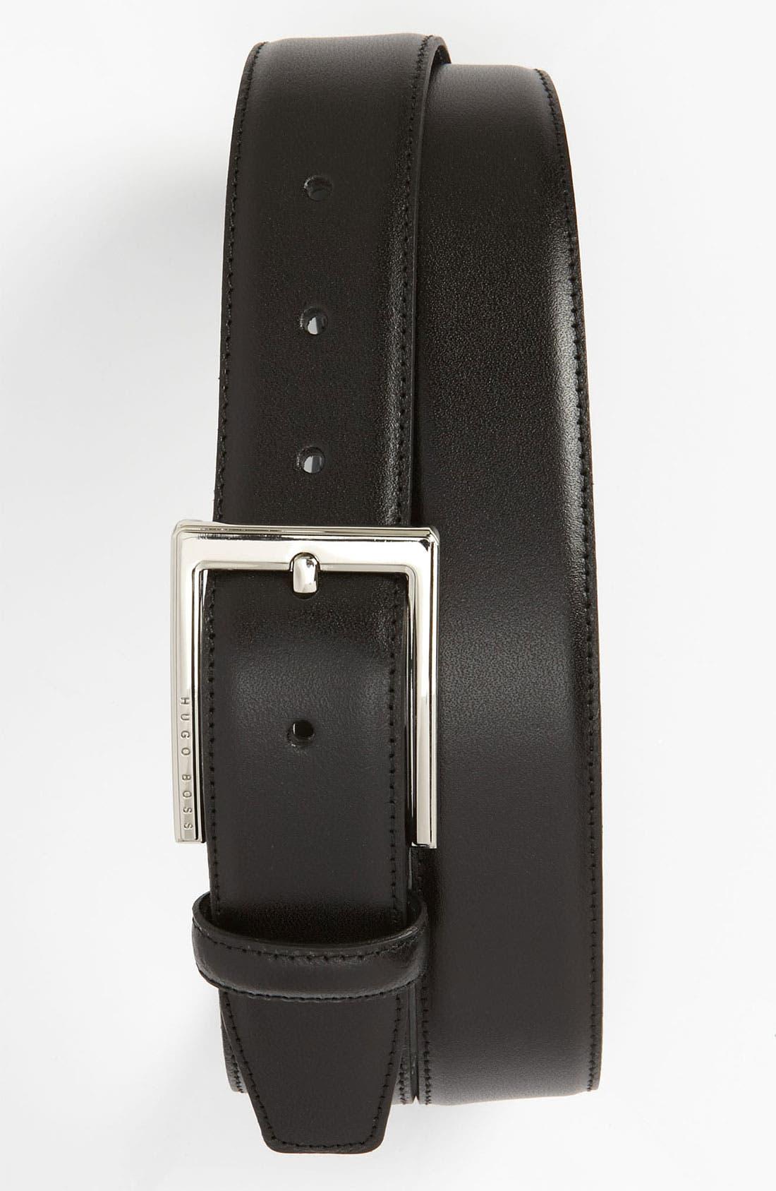 Alternate Image 1 Selected - BOSS Black 'Enton' Leather Belt
