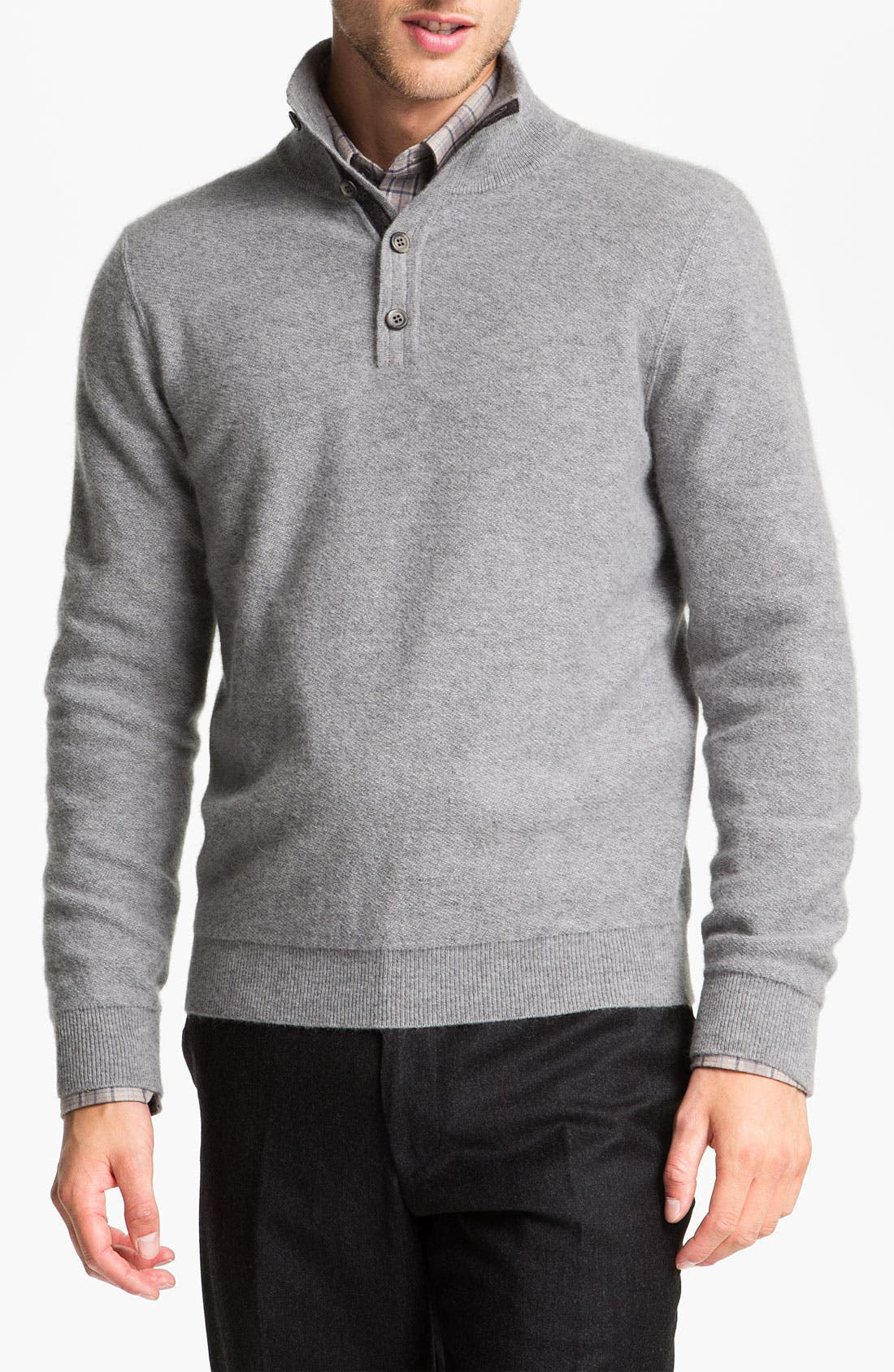 Alternate Image 1 Selected - Orlandini Wool & Angora Mock Neck Sweater