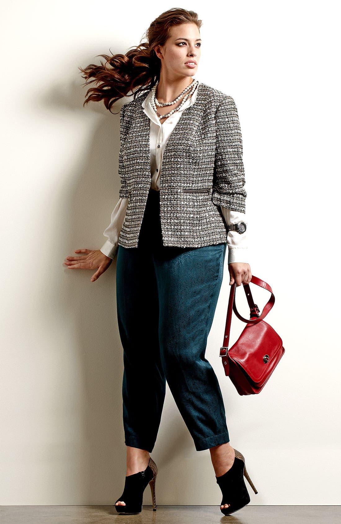 Alternate Image 7  - Sejour Tweed Jacket (Plus)