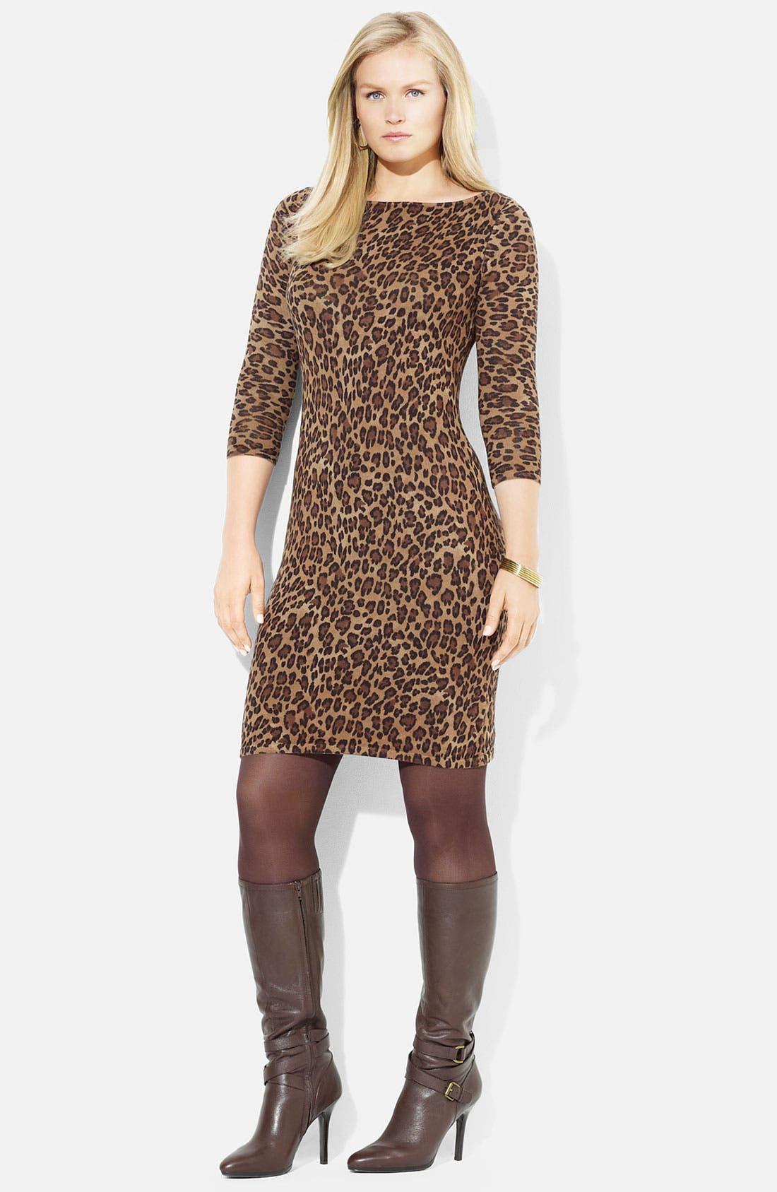 Alternate Image 1 Selected - Lauren Ralph Lauren 'Vine' Sweater Dress (Plus)