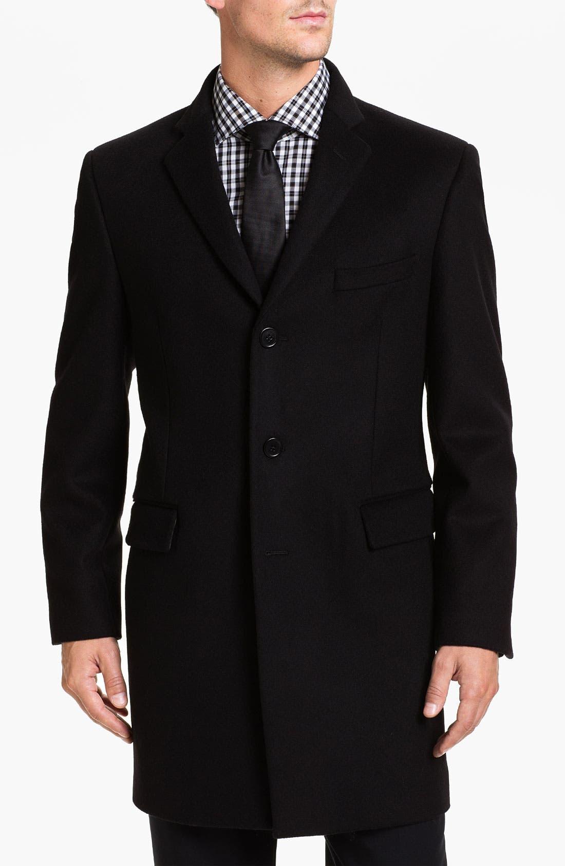 Newton Topcoat,                         Main,                         color, Black