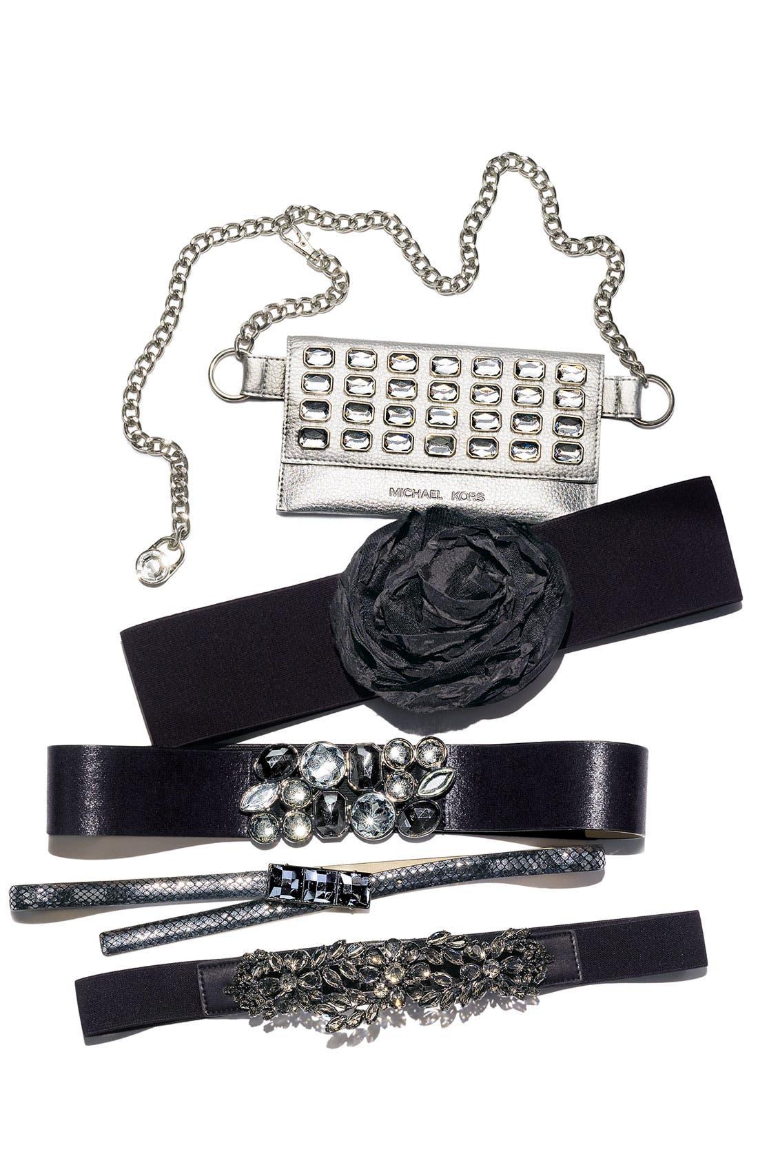 Alternate Image 3  - Natasha Couture Flower Stretch Belt