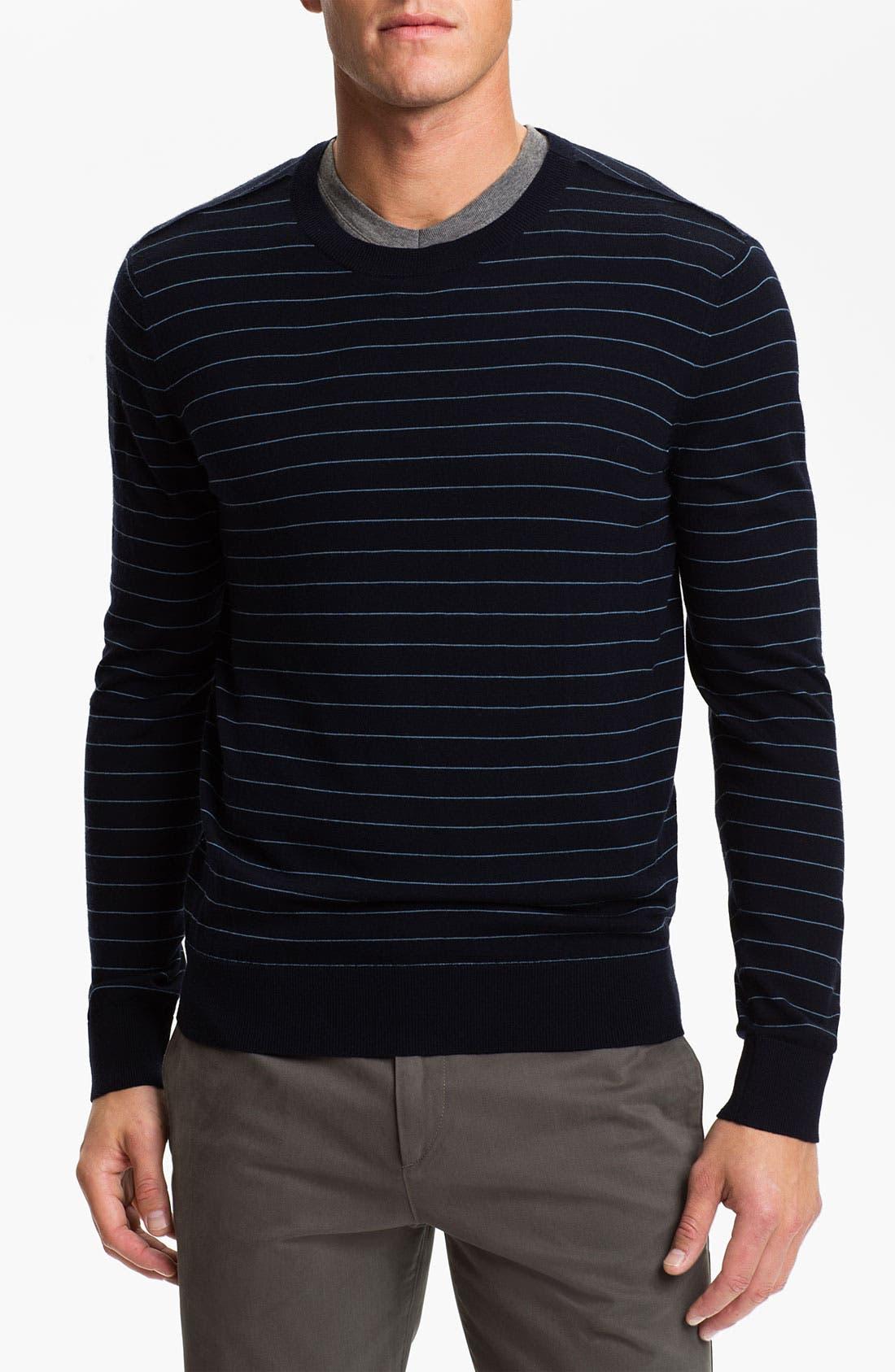 Main Image - Theory Stripe Wool Sweater