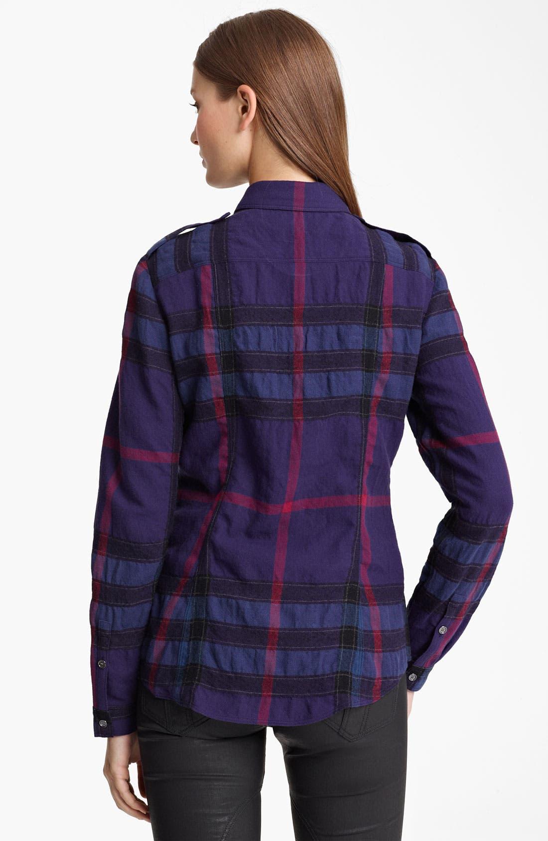 Alternate Image 2  - Burberry Brit Check Print Flannel Top