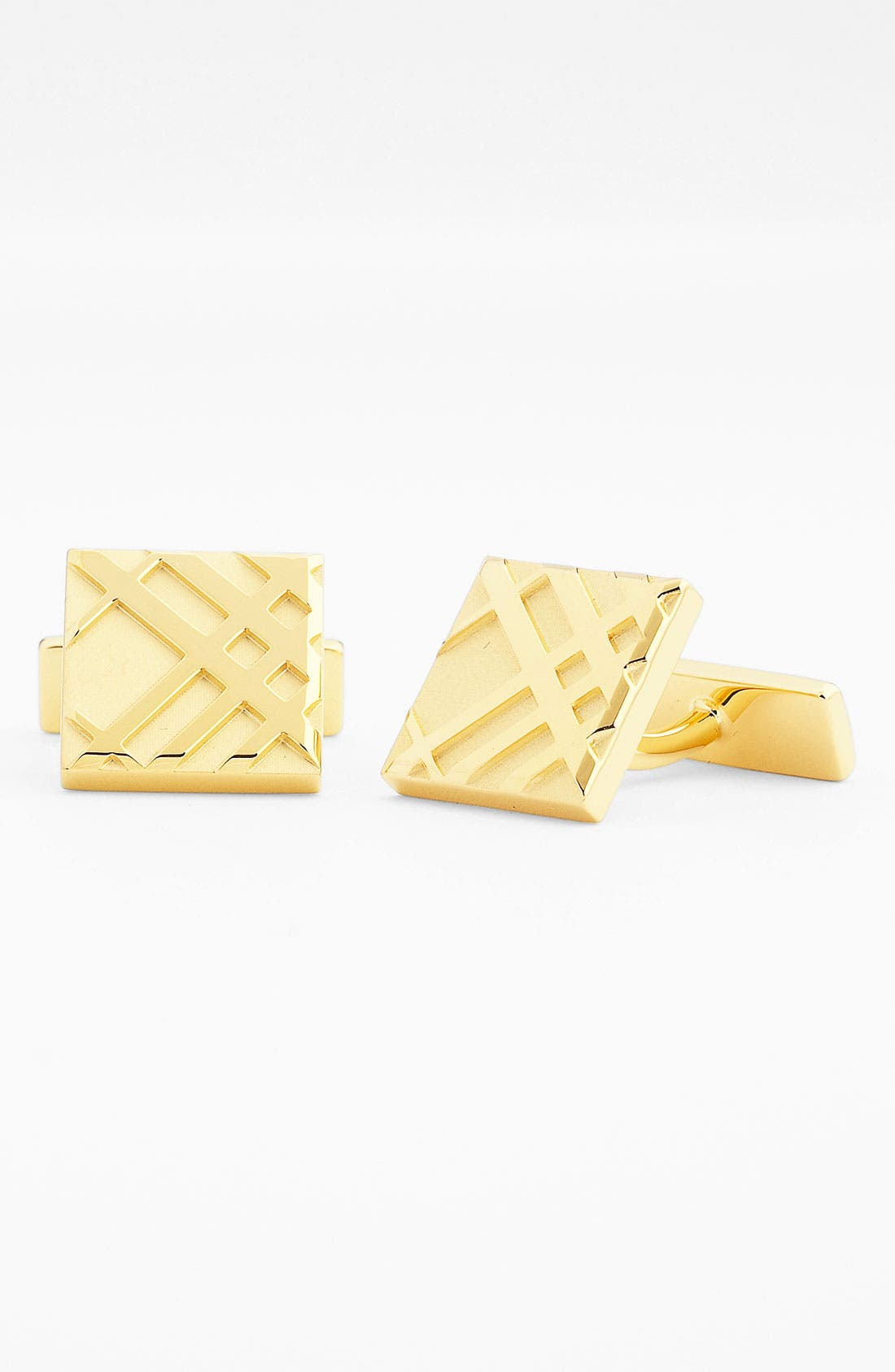 Alternate Image 1 Selected - Burberry Check Cuff Links