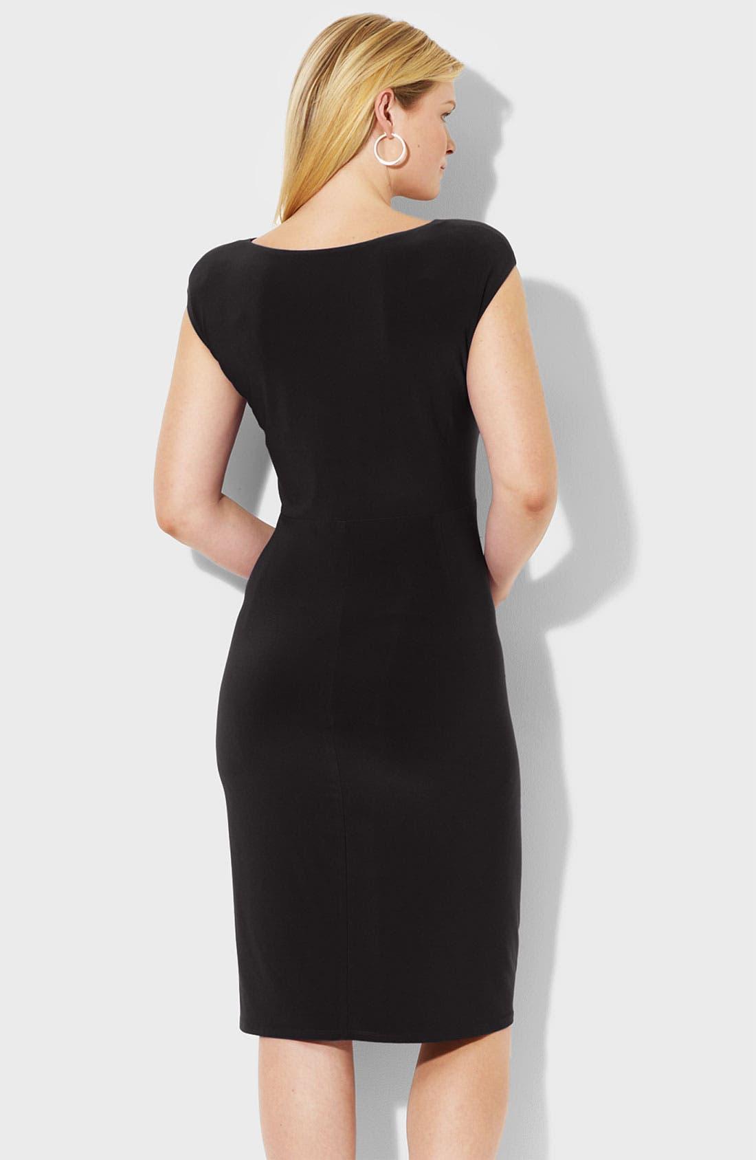 Alternate Image 2  - Lauren Ralph Lauren Matte Jersey Dress (Plus)