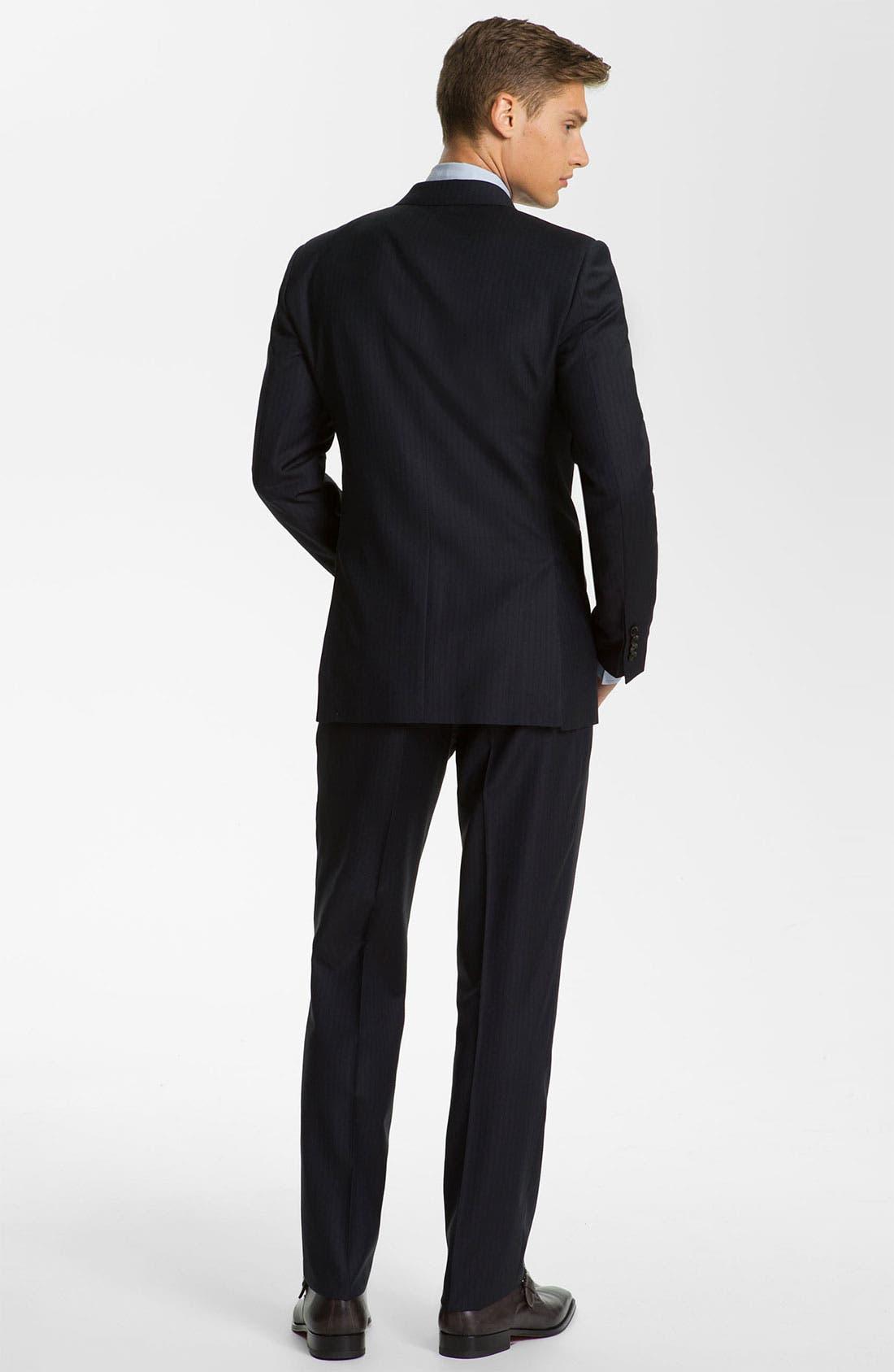 Alternate Image 3  - Burberry London Extra Trim Fit Suit