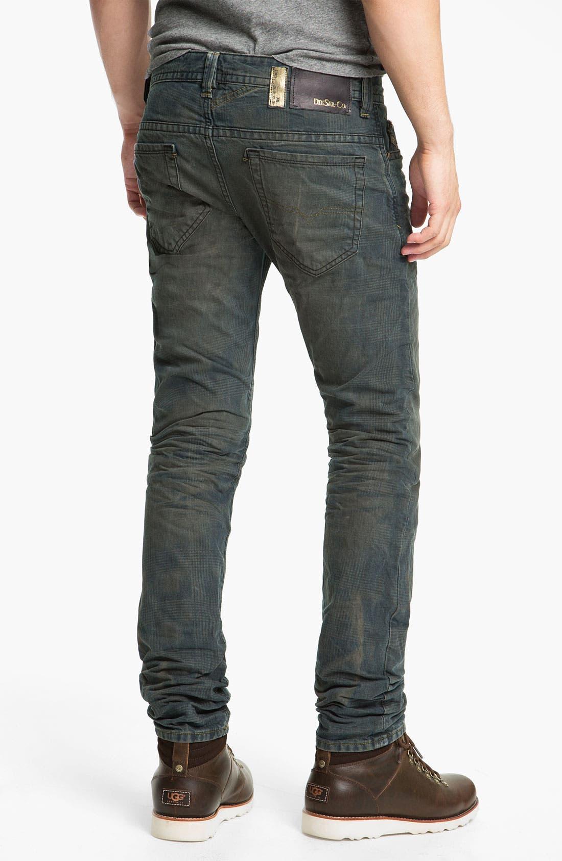 Alternate Image 1 Selected - DIESEL® 'Thavar' Slim Straight Leg Jeans (0808Z)