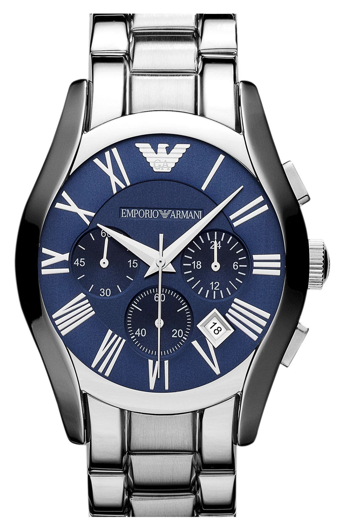 Alternate Image 1 Selected - Emporio Armani 'Classic' Round Bracelet Watch