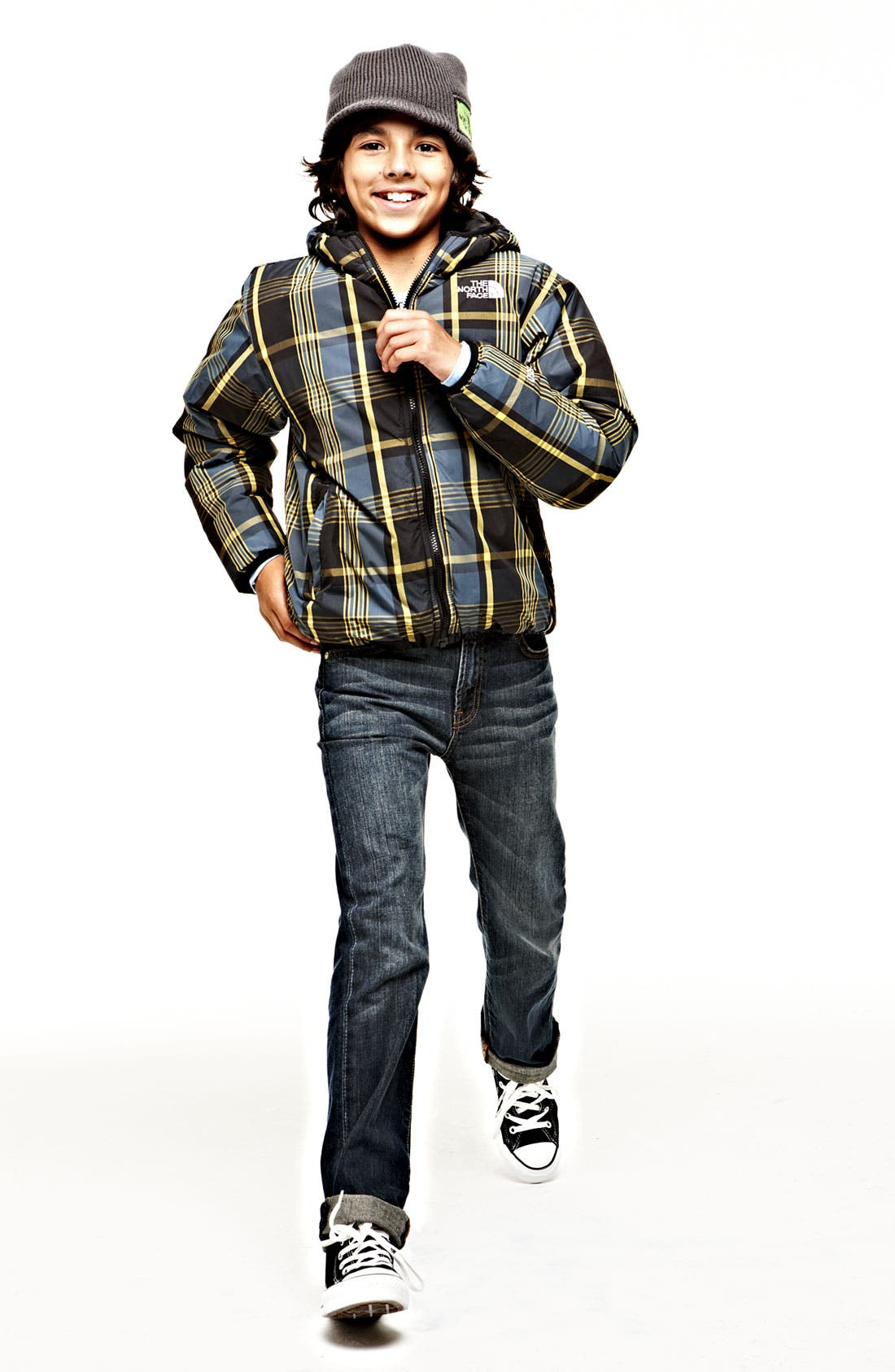 Alternate Image 1 Selected - Tucker + Tate Thermal T-Shirt, The North Face Down Jacket & Joe's Jeans (Big Boys)