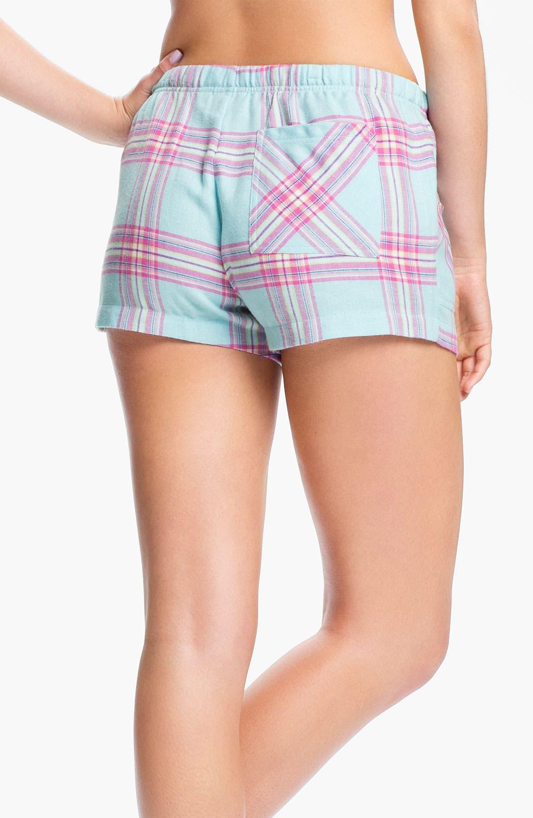 Alternate Image 2  - Make + Model 'Cozy Time' Flannel Boxer Shorts