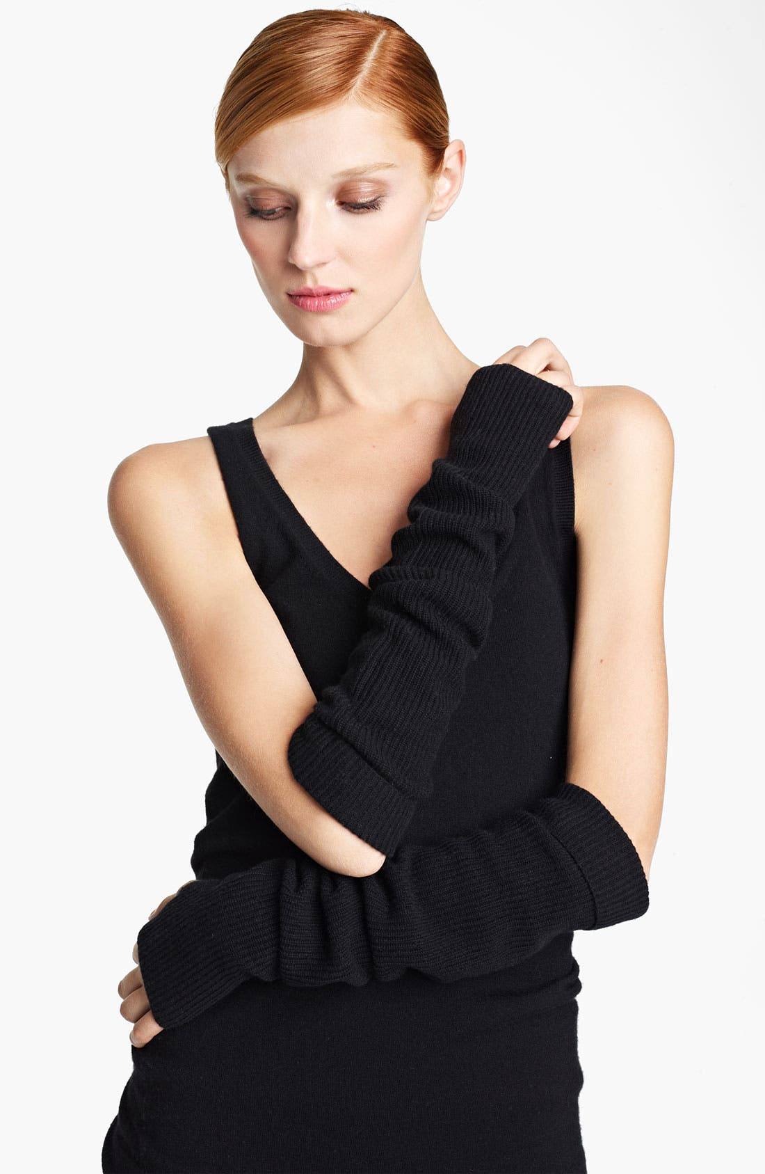 Main Image - Donna Karan Collection 'Mid Layer' Ribbed Cashmere Arm Warmers