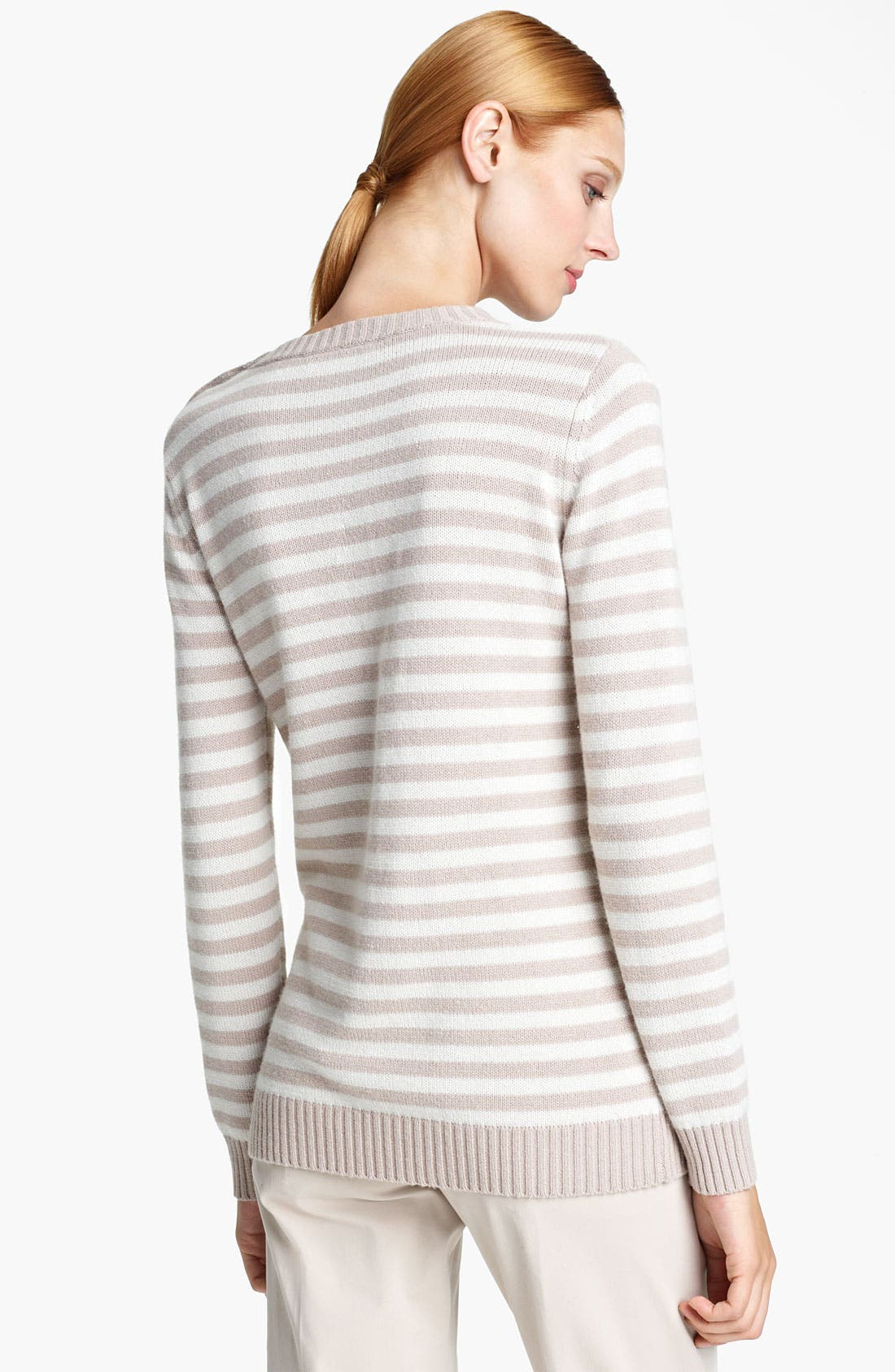 Alternate Image 2  - Max Mara 'Auronzo' Striped Cashmere & Cotton Sweater