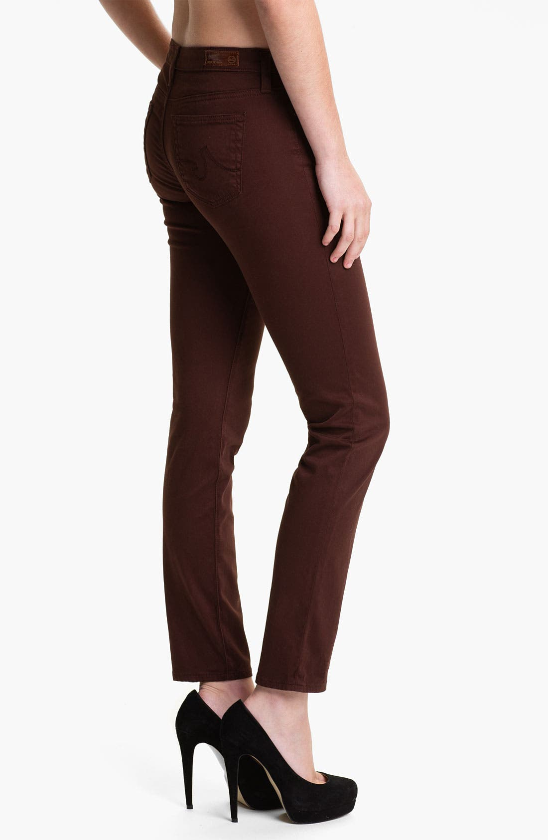 Alternate Image 2  - AG 'Stilt' Skinny Ankle Jeans (Raisin)