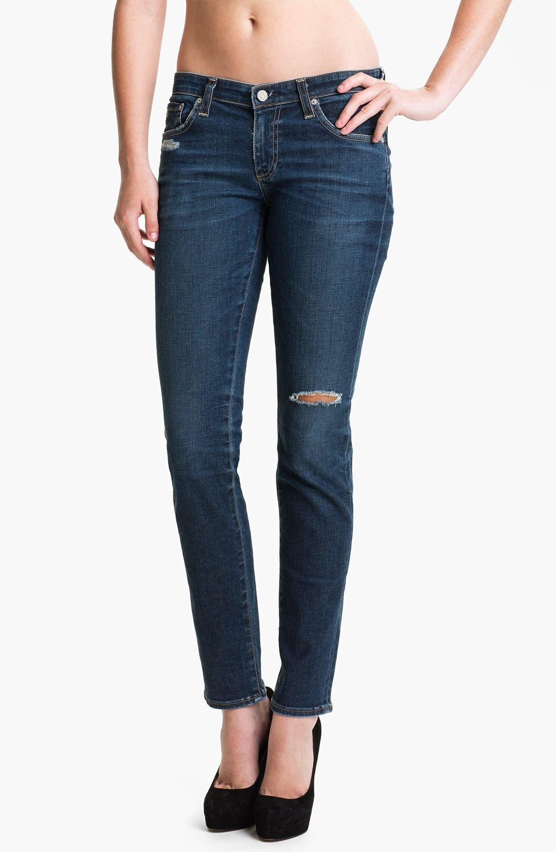 Alternate Image 1 Selected - AG Jeans 'The Stilt' Cigarette Leg Jeans (Six Year Rinse)