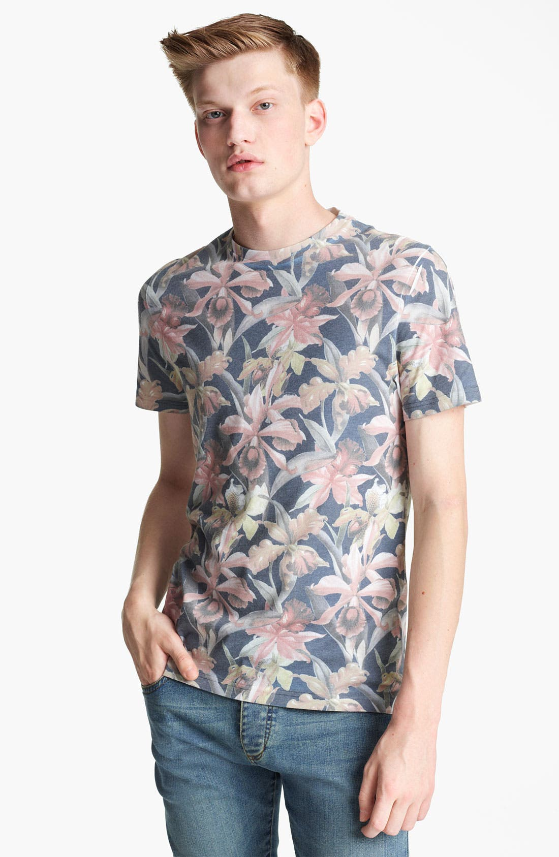 Alternate Image 1 Selected - Topman 'Moody Floral' Print T-Shirt