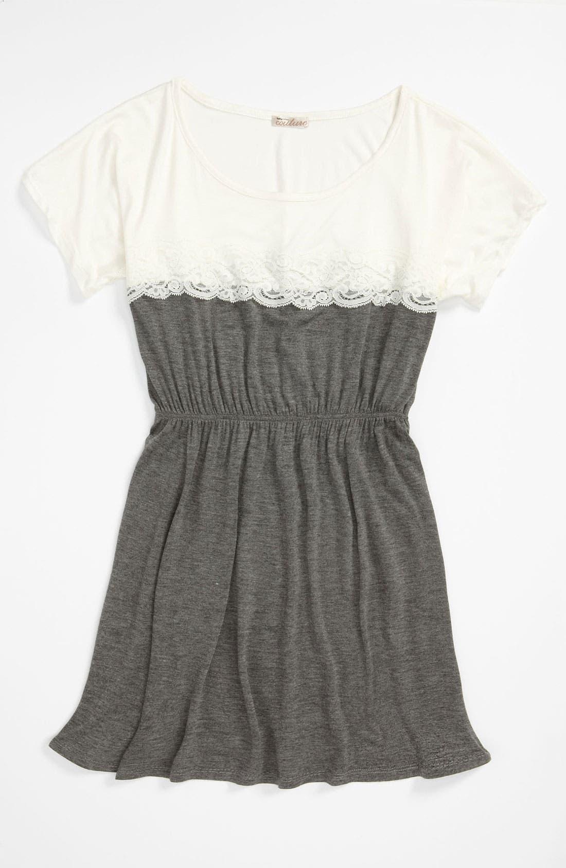 Main Image - Sally Miller Colorblock Lace Dress (Big Girls)