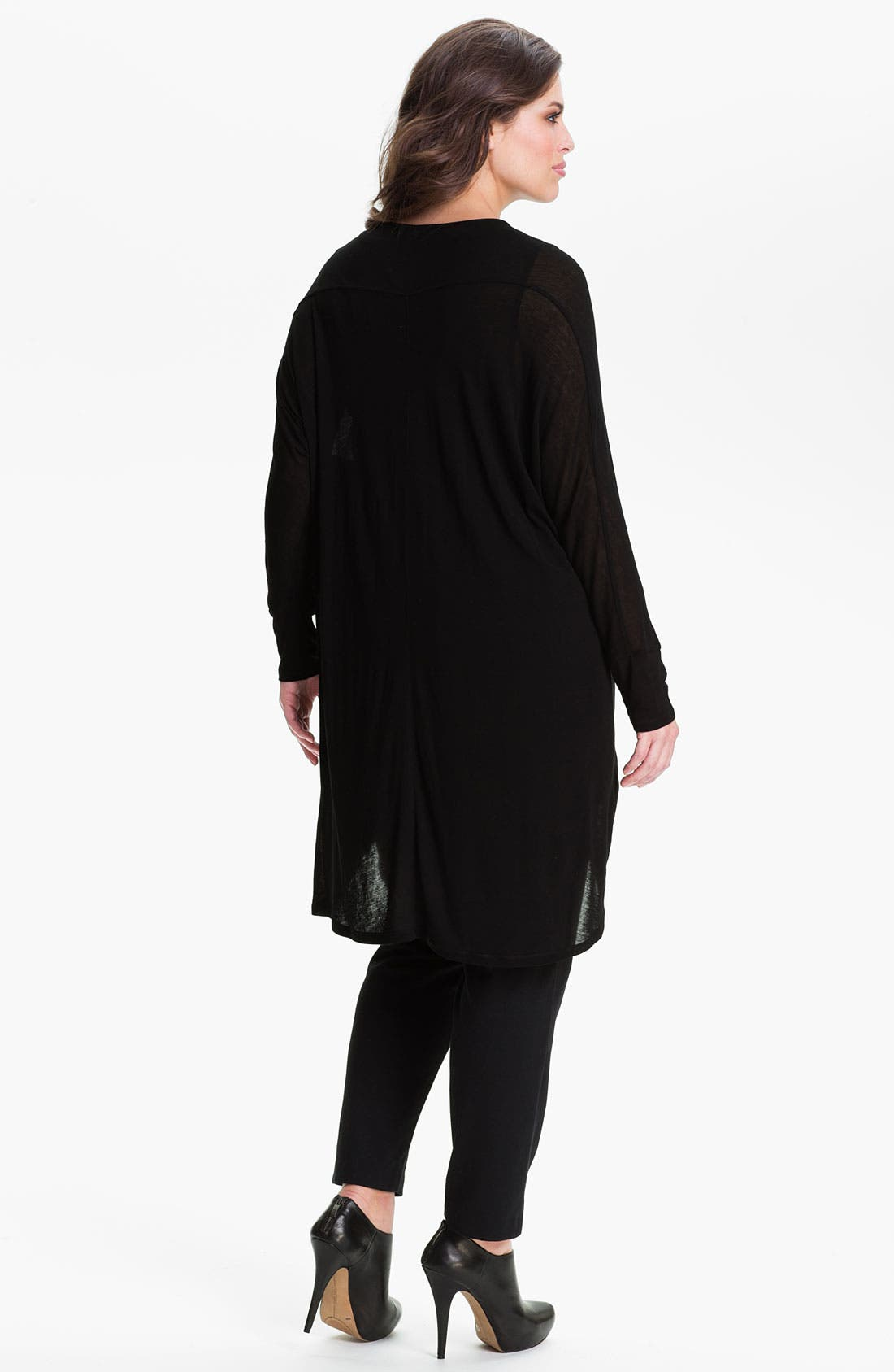 Alternate Image 2  - Kische Sheer Open Front Cardigan (Plus)