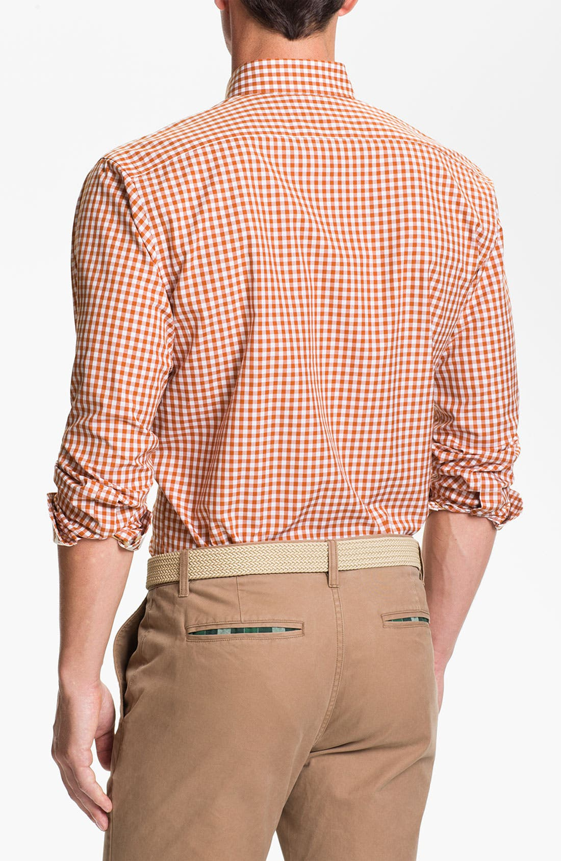 Alternate Image 2  - Thomas Dean 'University of Texas' Gingham Sport Shirt